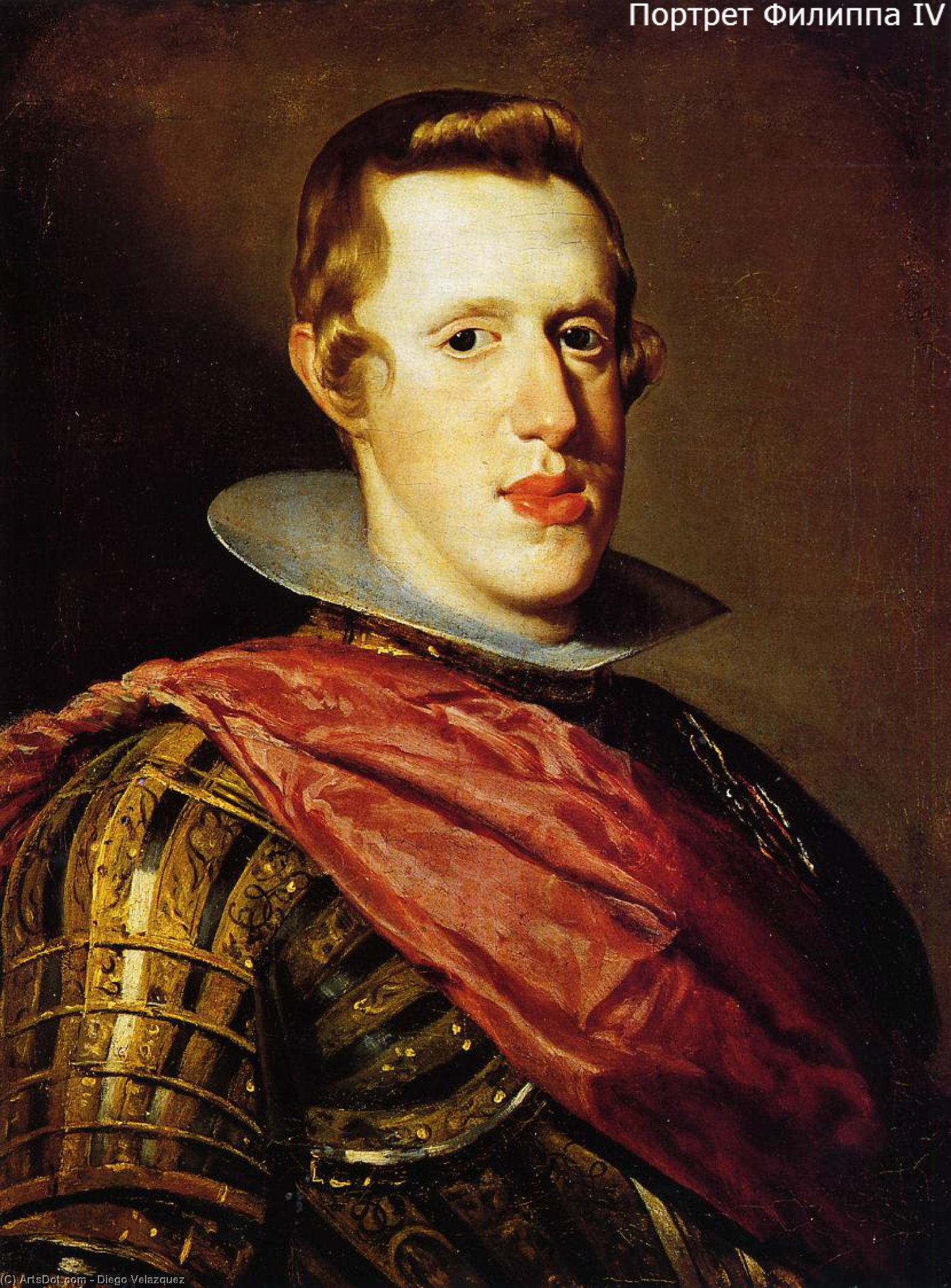 Philip IV in Armor, Oil On Canvas by Diego Velazquez (1599-1660, Spain)