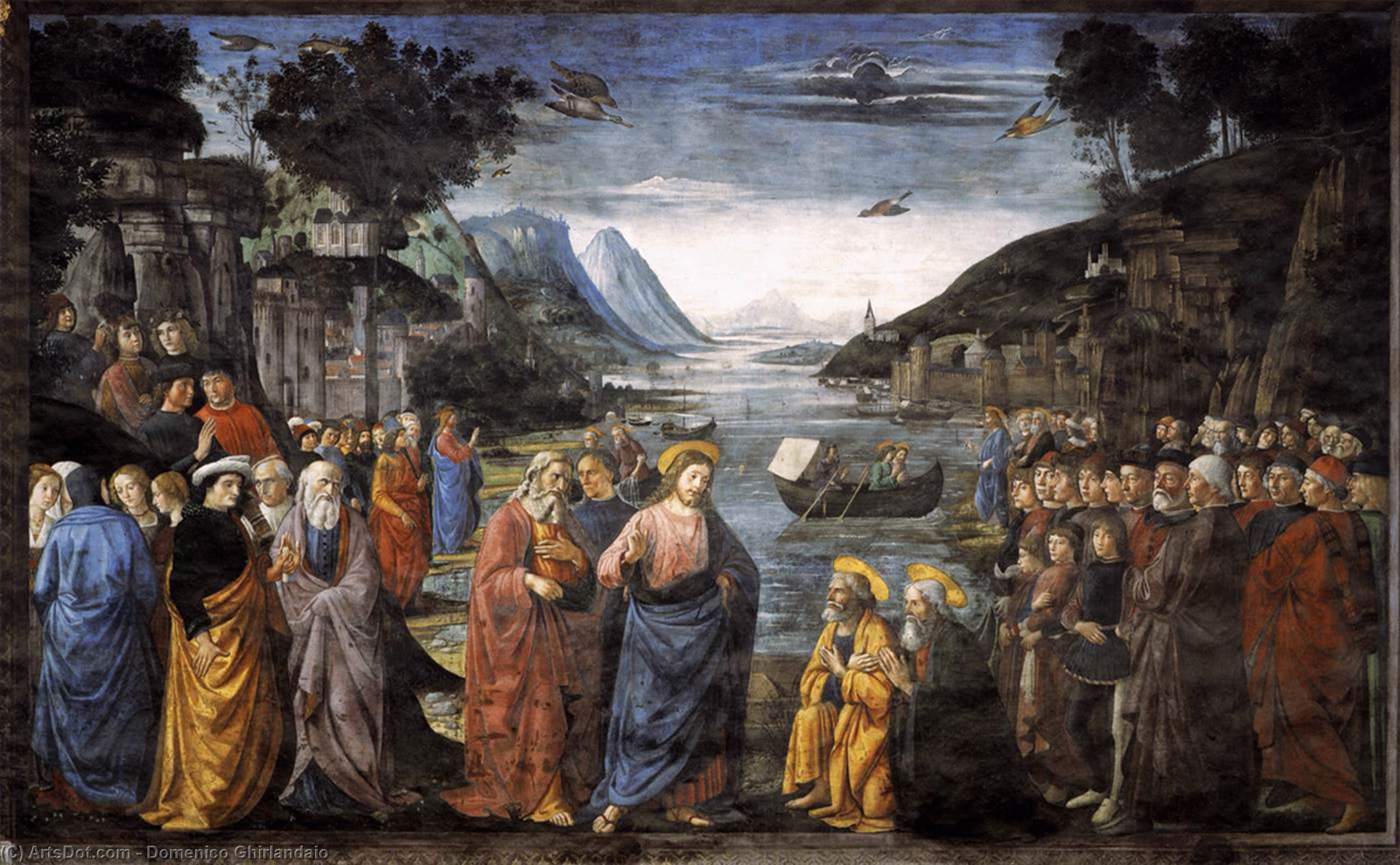 The Calling of St. Peter and St. Andrew, 1481 by Domenico Ghirlandaio (1449-1494, Italy) | Museum Quality Reproductions | ArtsDot.com