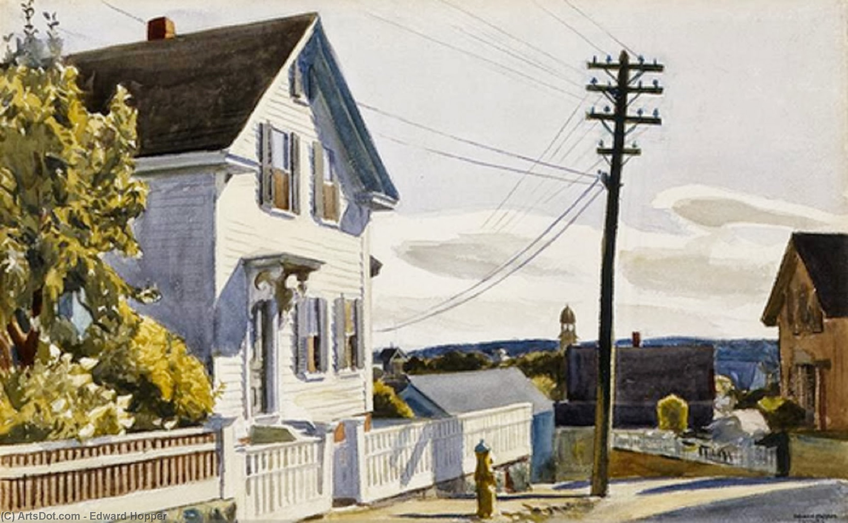 Adam`s House, 1928 by Edward Hopper (1931-1967, United States) | Painting Copy | ArtsDot.com