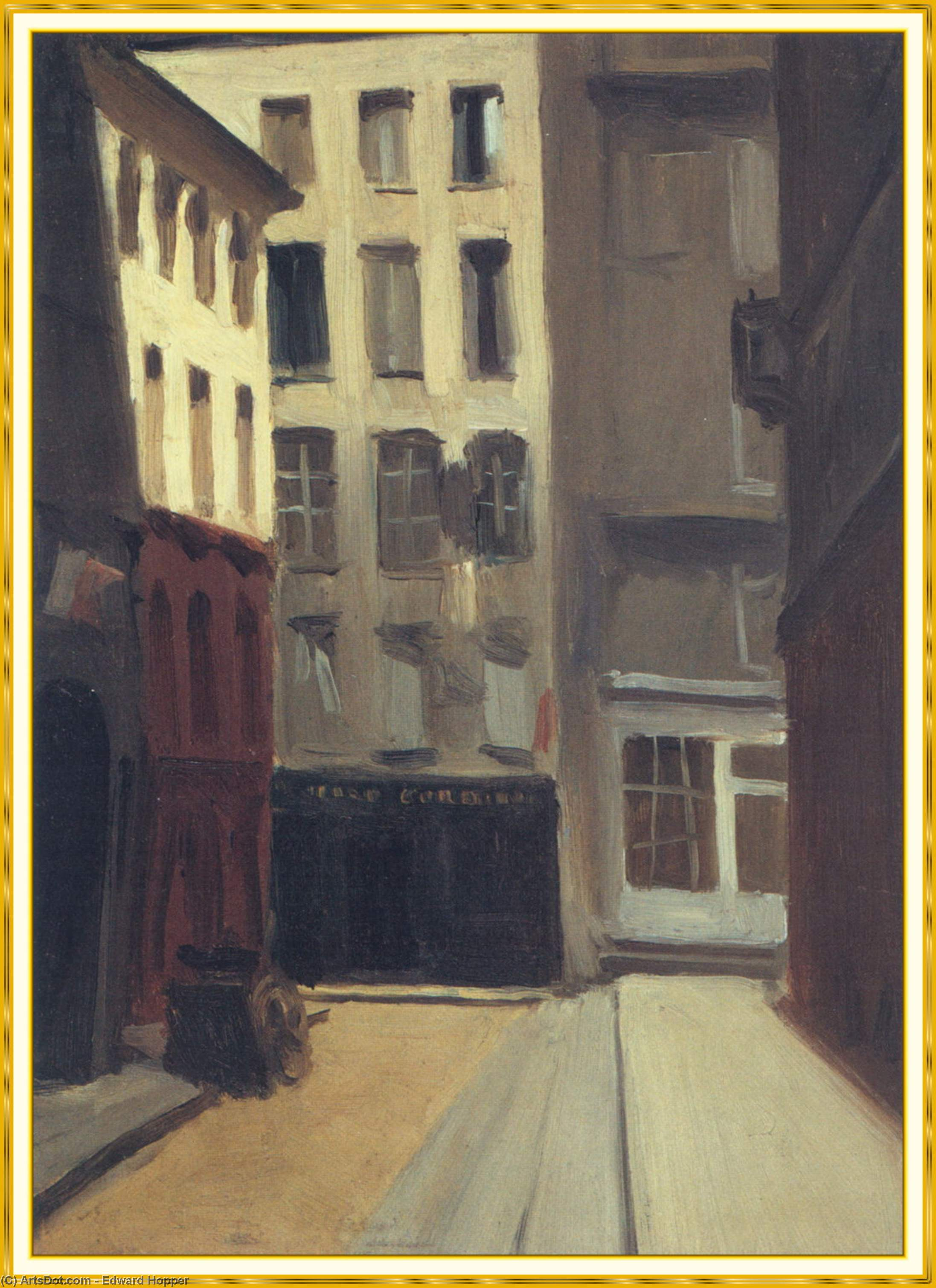 Paris Street by Edward Hopper (1931-1967, United States) | Museum Quality Reproductions | ArtsDot.com