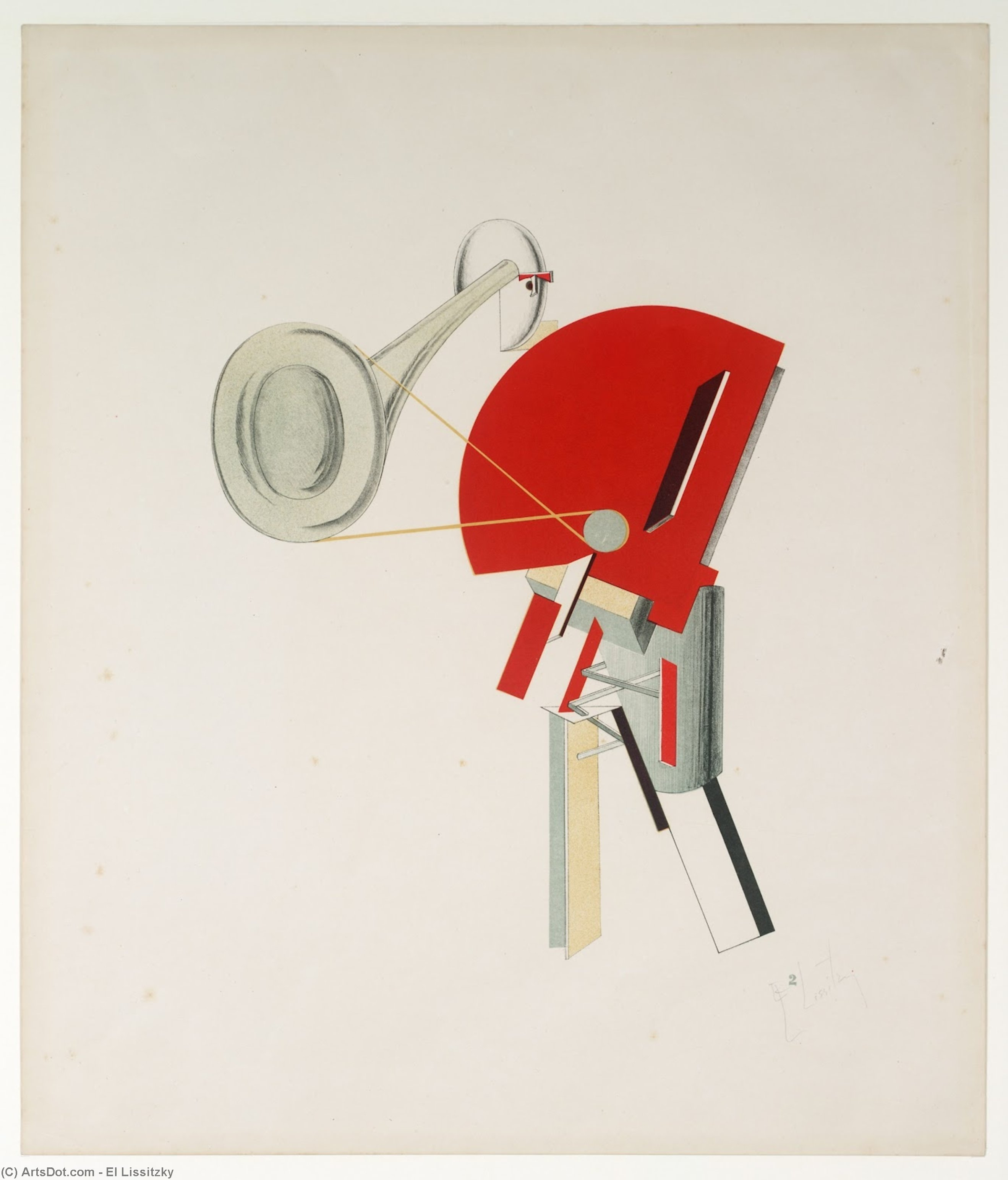 Order Paintings Reproductions | Announcer, 1923 by El Lissitzky (1890-1941, Russia) | ArtsDot.com