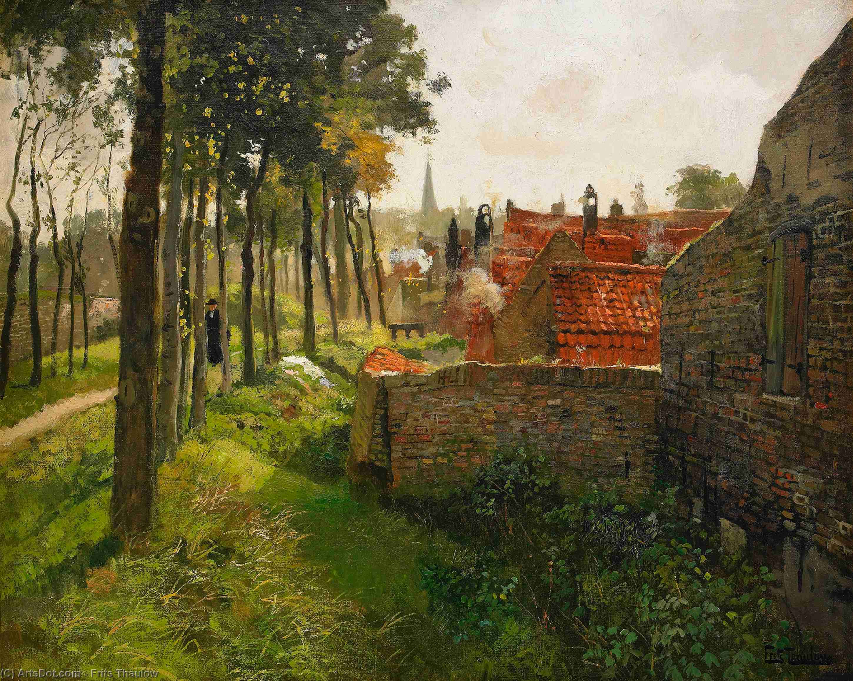 The Priest by Frits Thaulow (1847-1906, Norway) | Painting Copy | ArtsDot.com