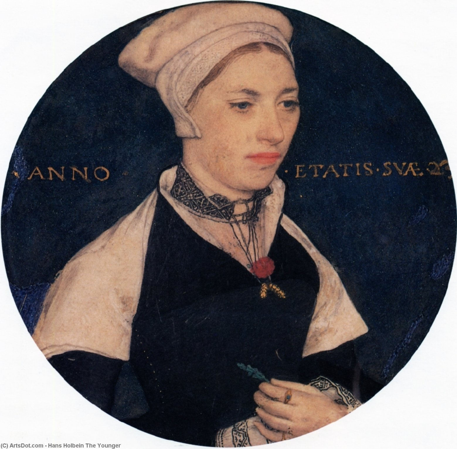 Order Paintings Reproductions | Mrs. Pemberton, 1535 by Hans Holbein The Younger (1497-1545, Italy) | ArtsDot.com