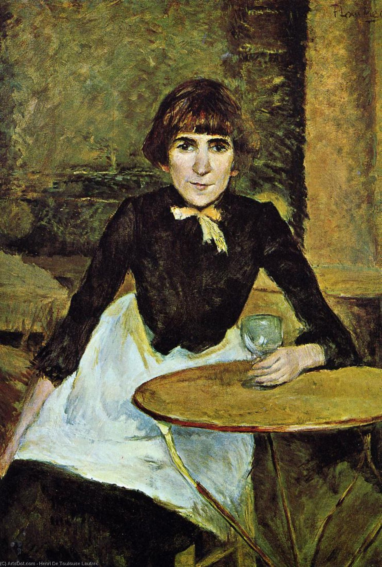 At La Bastille (Portrait of Jeanne Wenz), Oil On Canvas by Henri De Toulouse Lautrec (1864-1901, France)