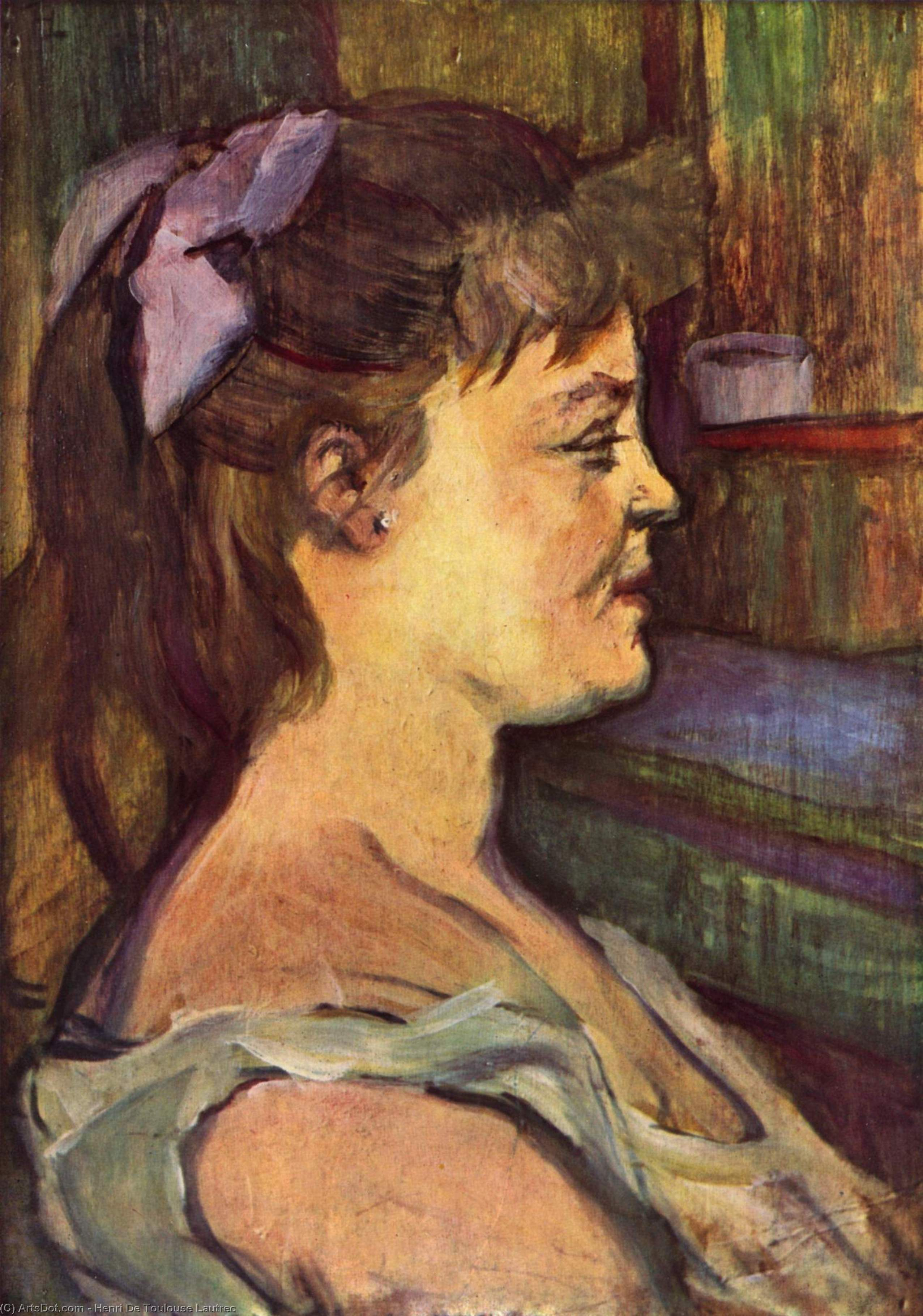 House wife, Oil by Henri De Toulouse Lautrec (1864-1901, France)