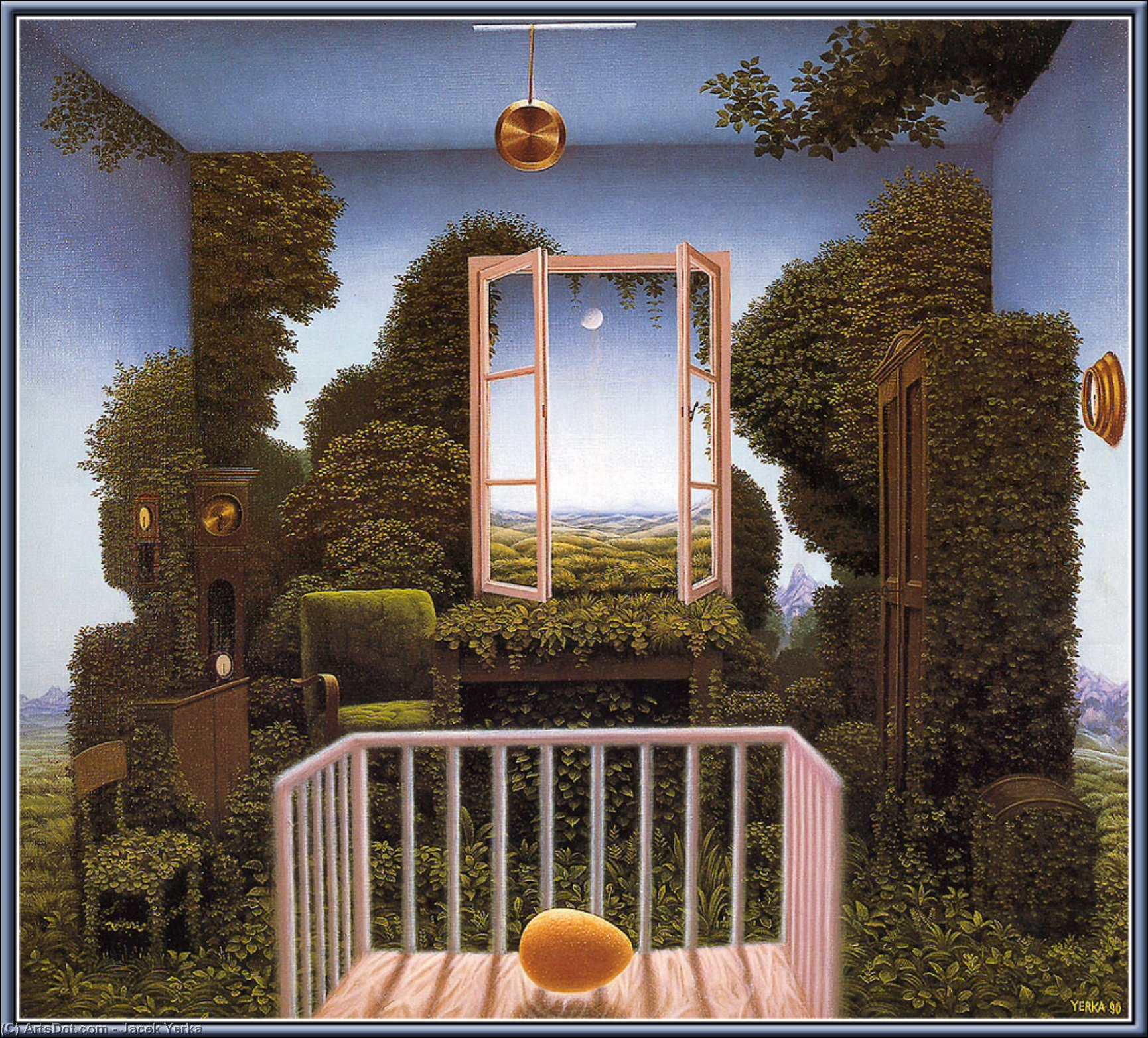 Twilight In The Nursery by Jacek Yerka |  | ArtsDot.com