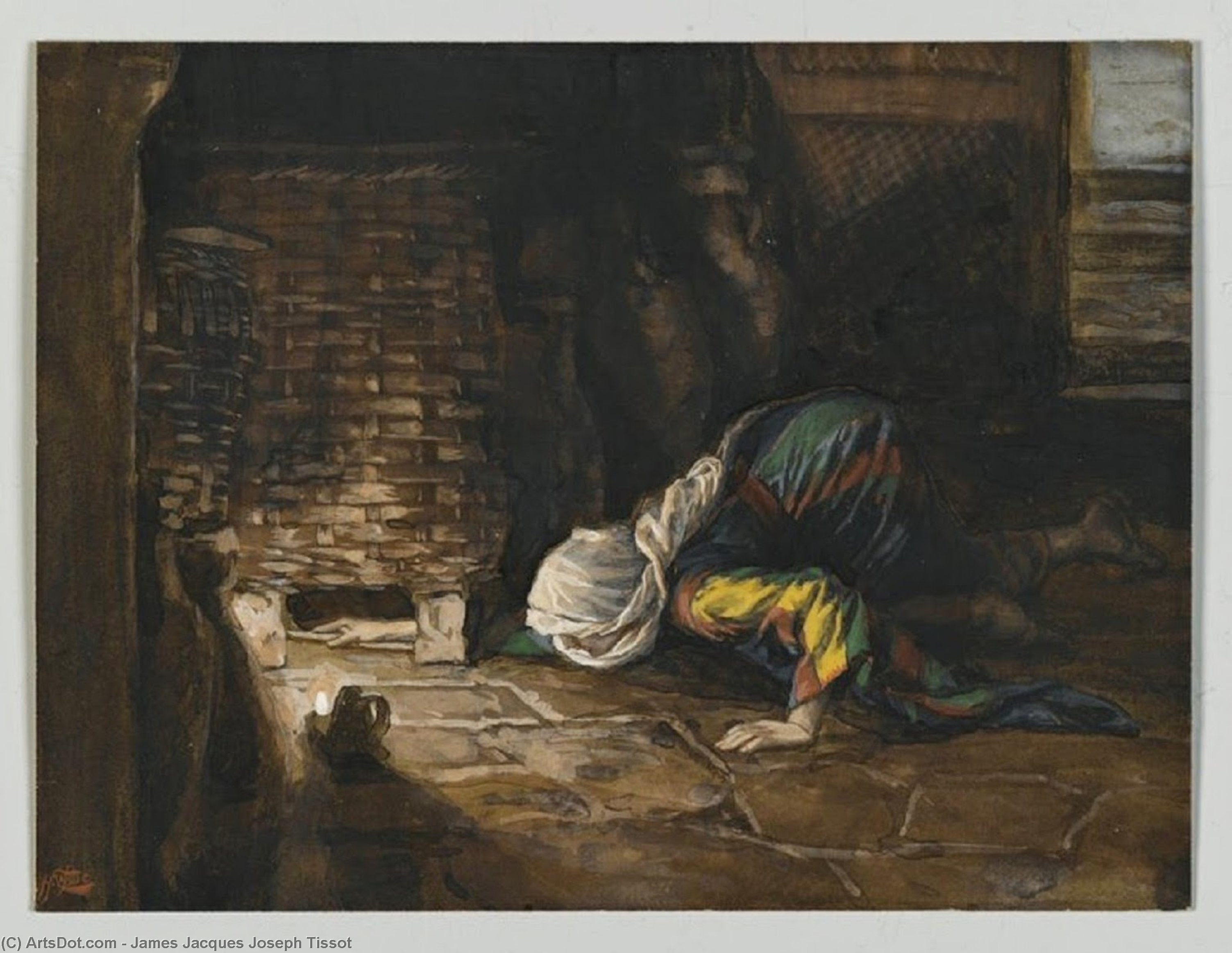 Order Museum Quality Copies | The Lost Drachma, 1894 by James Jacques Joseph Tissot (1836-1902, France) | ArtsDot.com