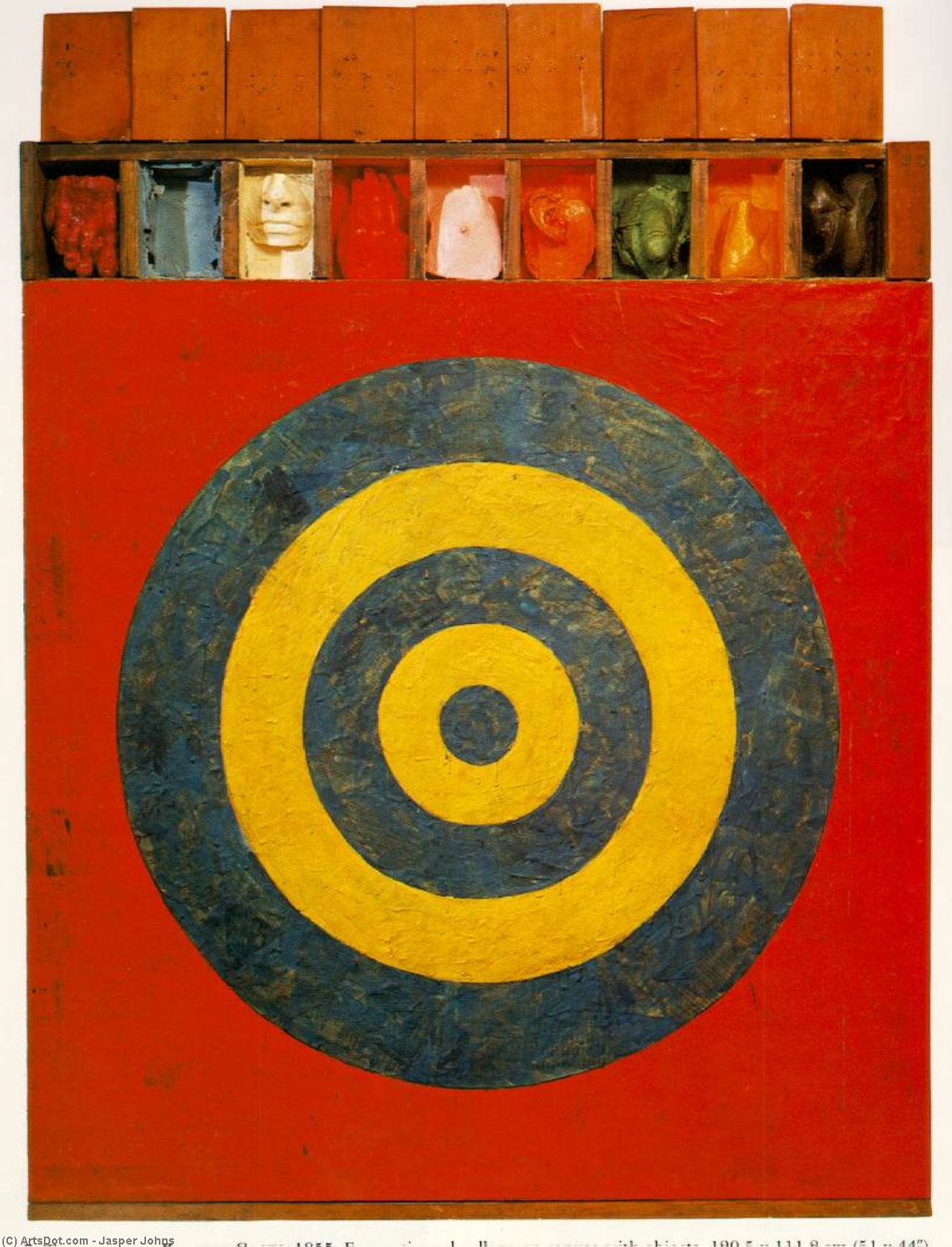 Target with Plaster Casts, Collage by Jasper Johns
