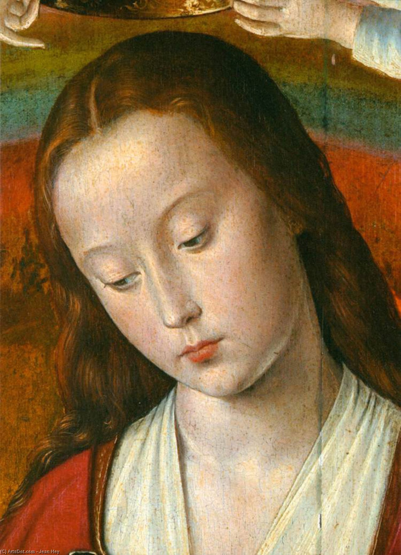 The Moulins Triptych (detail), 1499 by Jean Hey