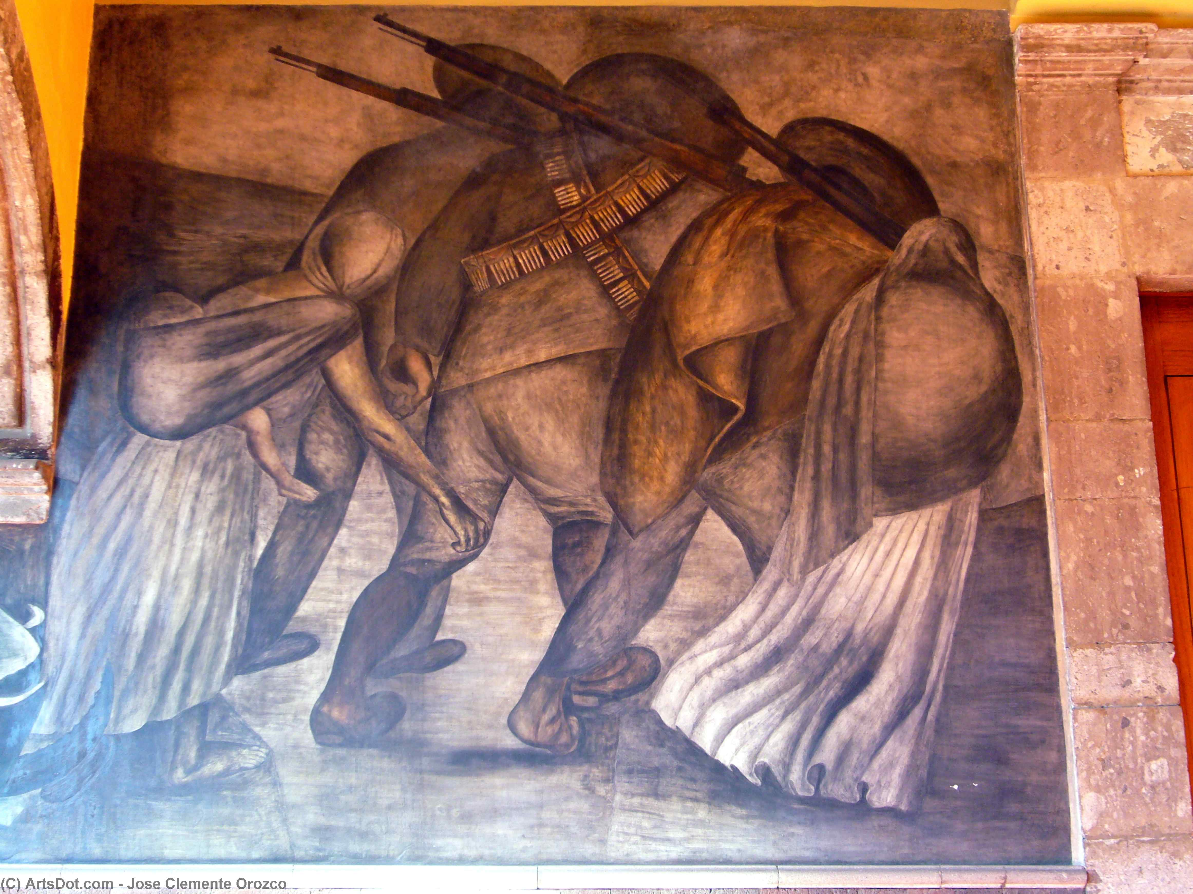 Revolutionaries on the march, 1924 by Jose Clemente Orozco (1883-1949, Mexico) | Museum Quality Reproductions | ArtsDot.com