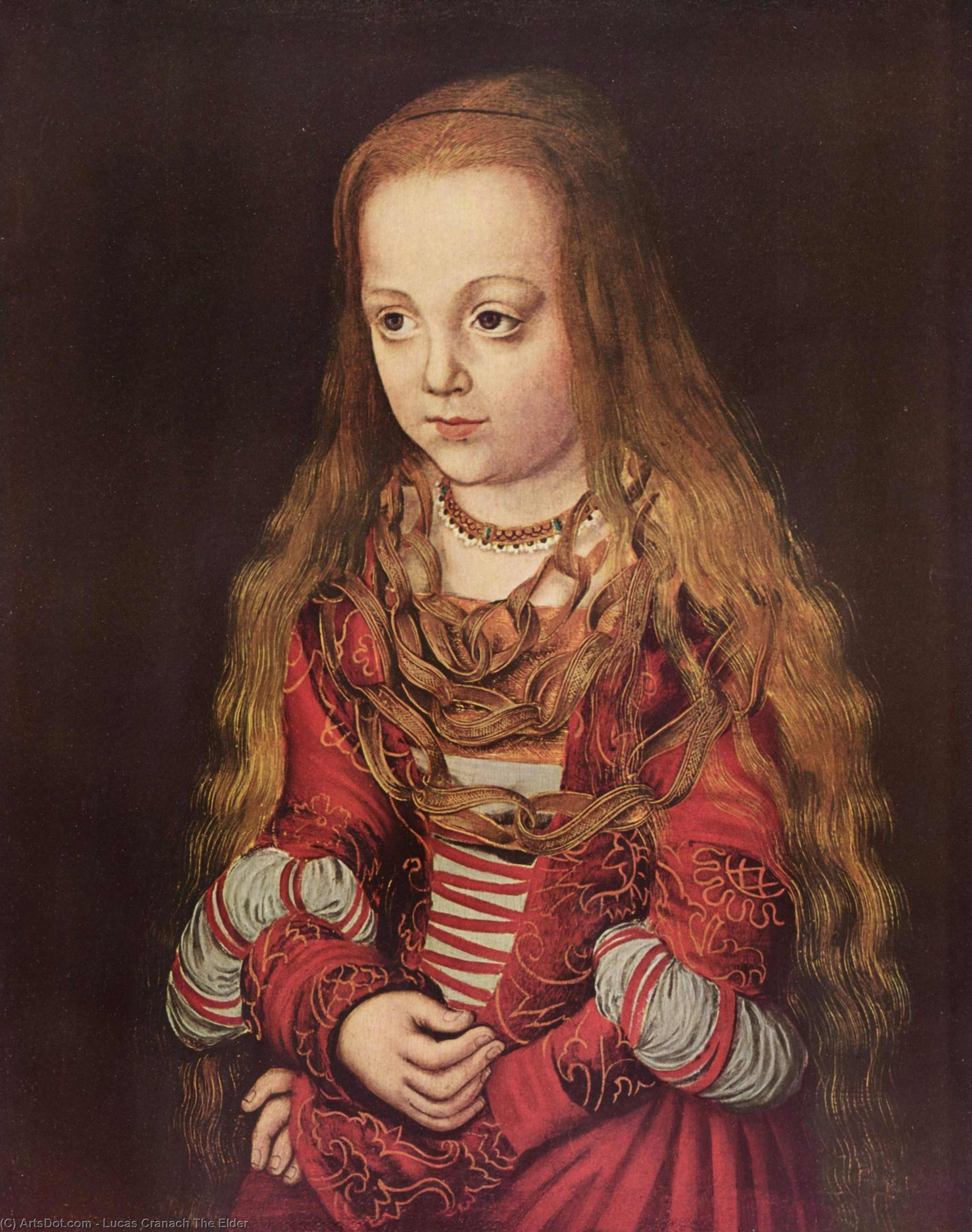 Portrait of a Saxon Princess, Oil On Panel by Lucas Cranach The Elder (1472-1553, Germany)