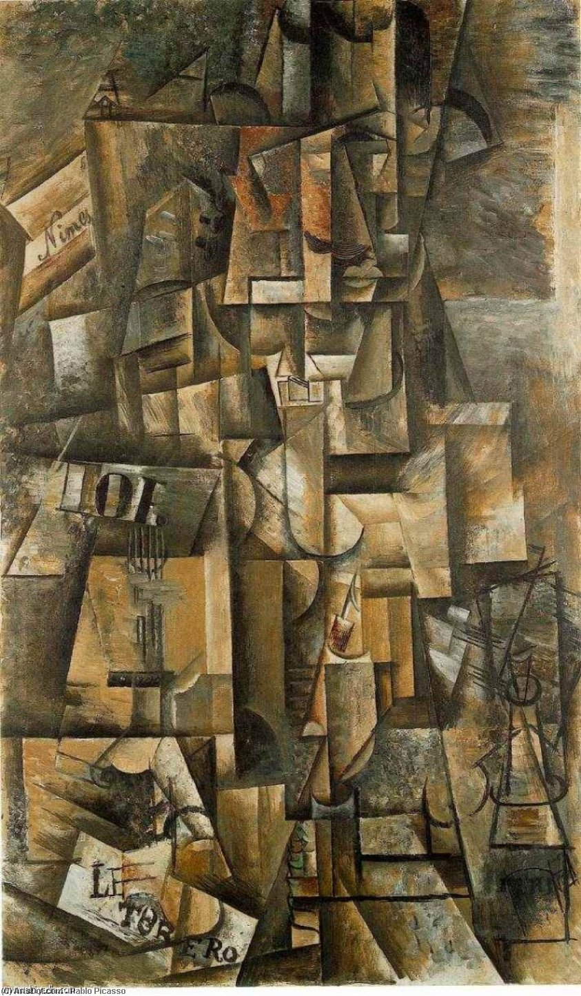 Order Art Reproductions | The aficionado (The torero), 1912 by Pablo Picasso (1881-1973, Spain) | ArtsDot.com