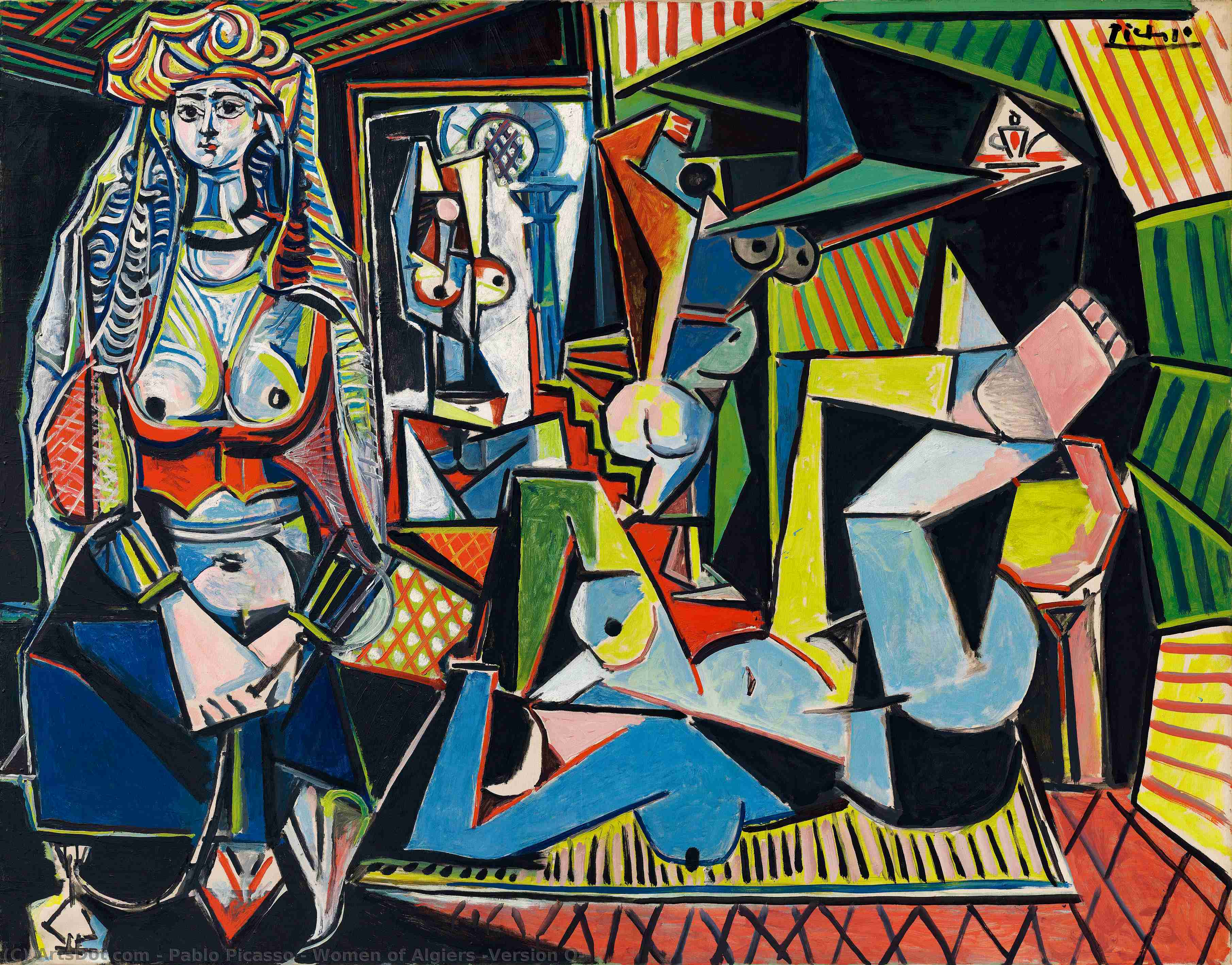 Women of Algiers (Version O), 1955 by Pablo Picasso (1881-1973, Spain) |  | ArtsDot.com