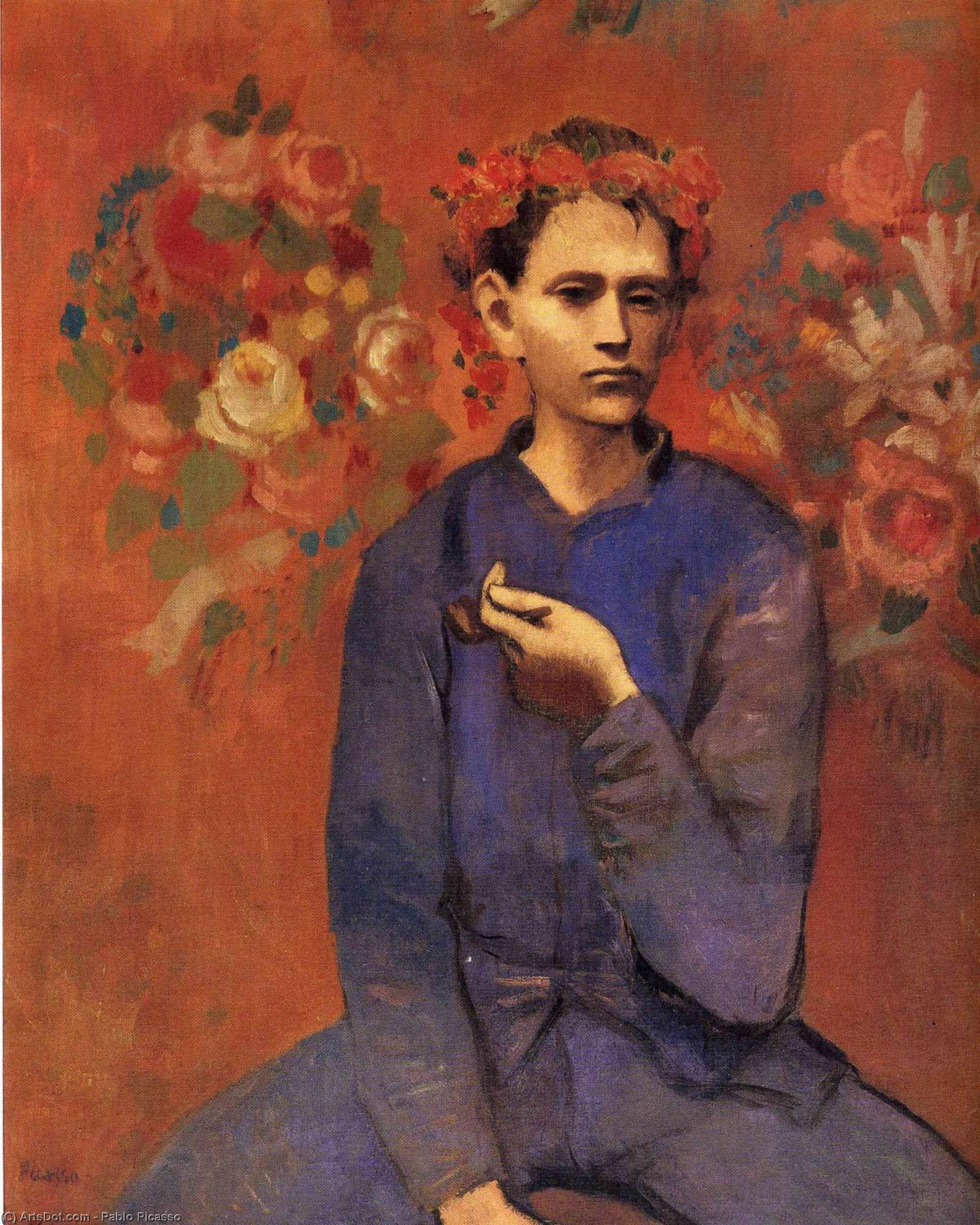 A boy with pipe, 1905 by Pablo Picasso (1881-1973, Spain) | Art Reproduction | ArtsDot.com
