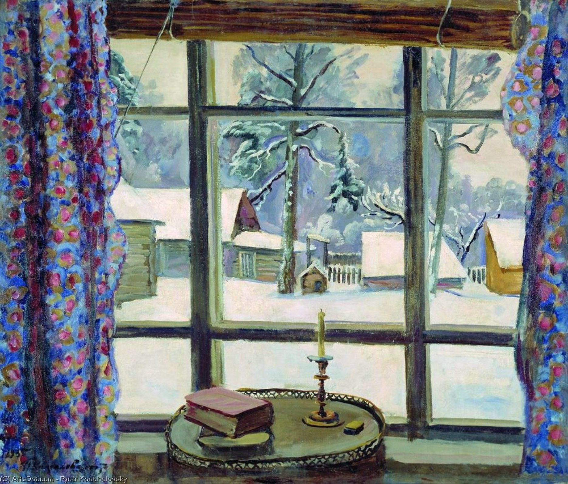 The window of the poet, 1935 by Pyotr Konchalovsky (1876-1956, Russia) | Art Reproduction | ArtsDot.com