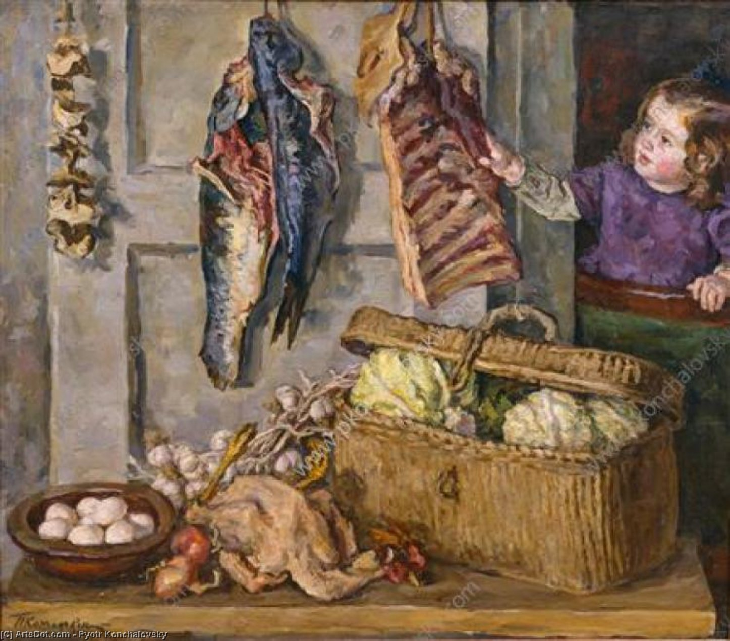 Still Life. Every victuals., 1944 by Pyotr Konchalovsky (1876-1956, Russia)