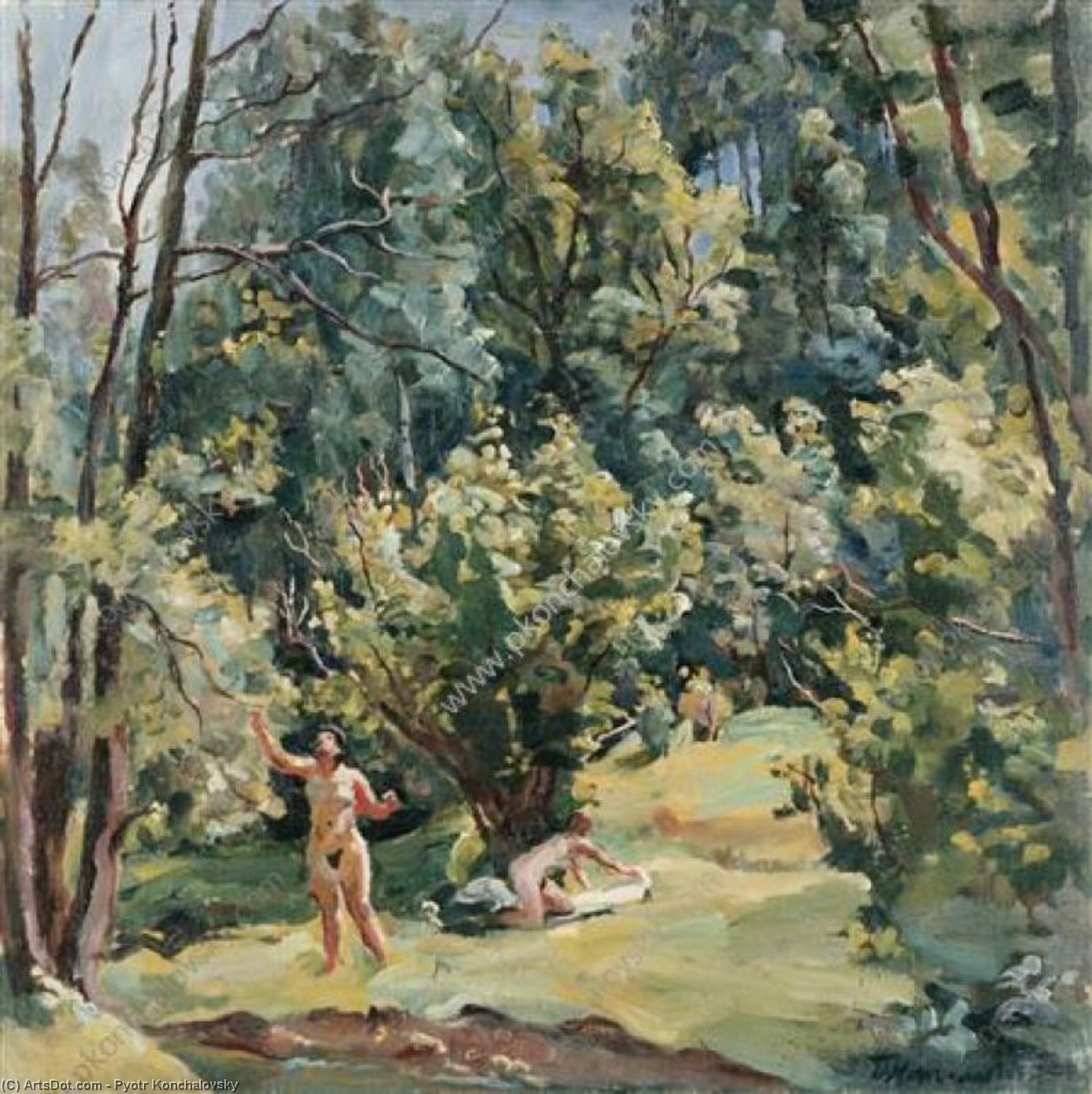 The woman at the creek, 1932 by Pyotr Konchalovsky (1876-1956, Russia) | Art Reproduction | ArtsDot.com