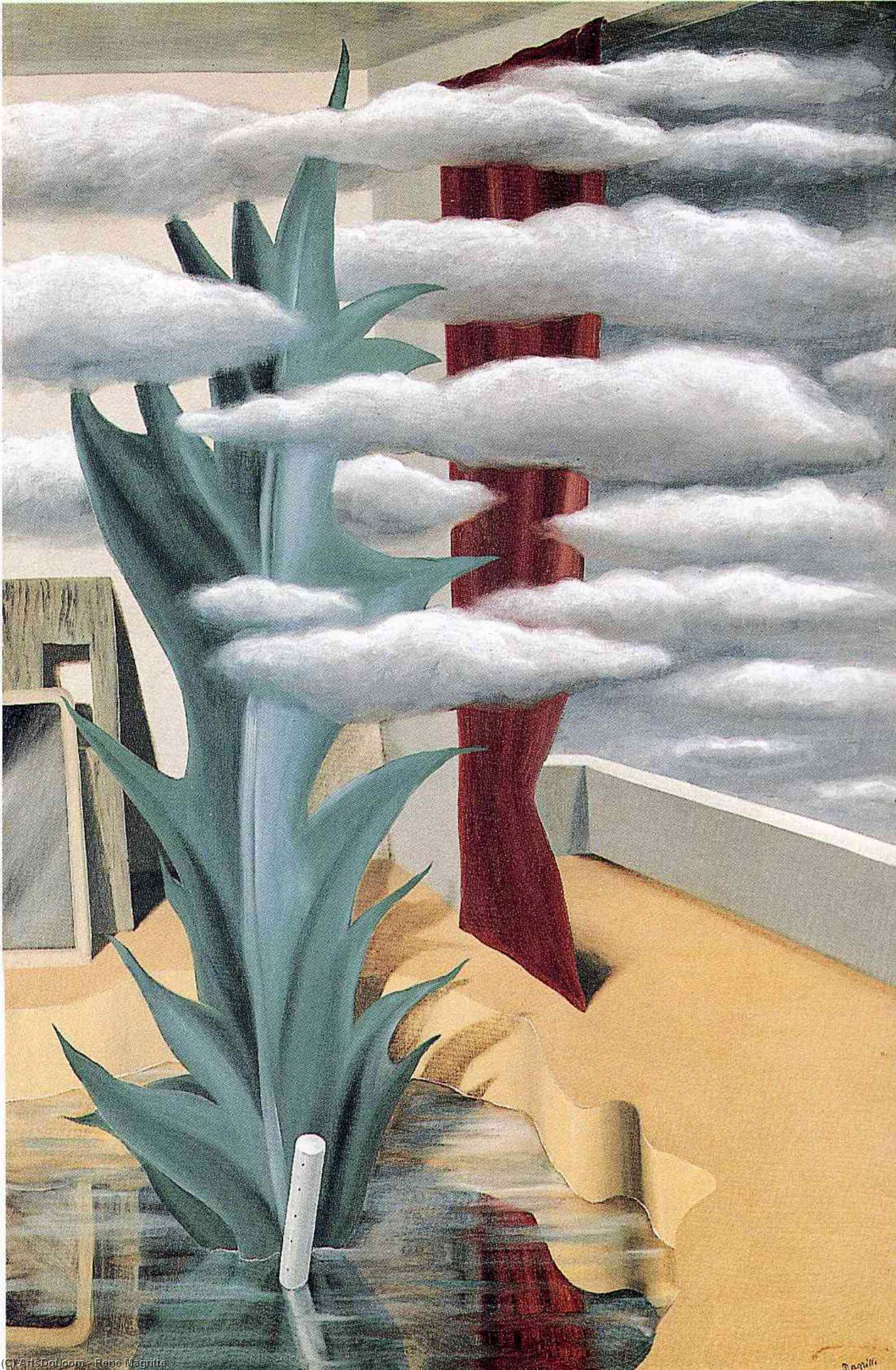 After the Water, the Clouds, 1926 by Rene Magritte (1898-1967, Belgium)