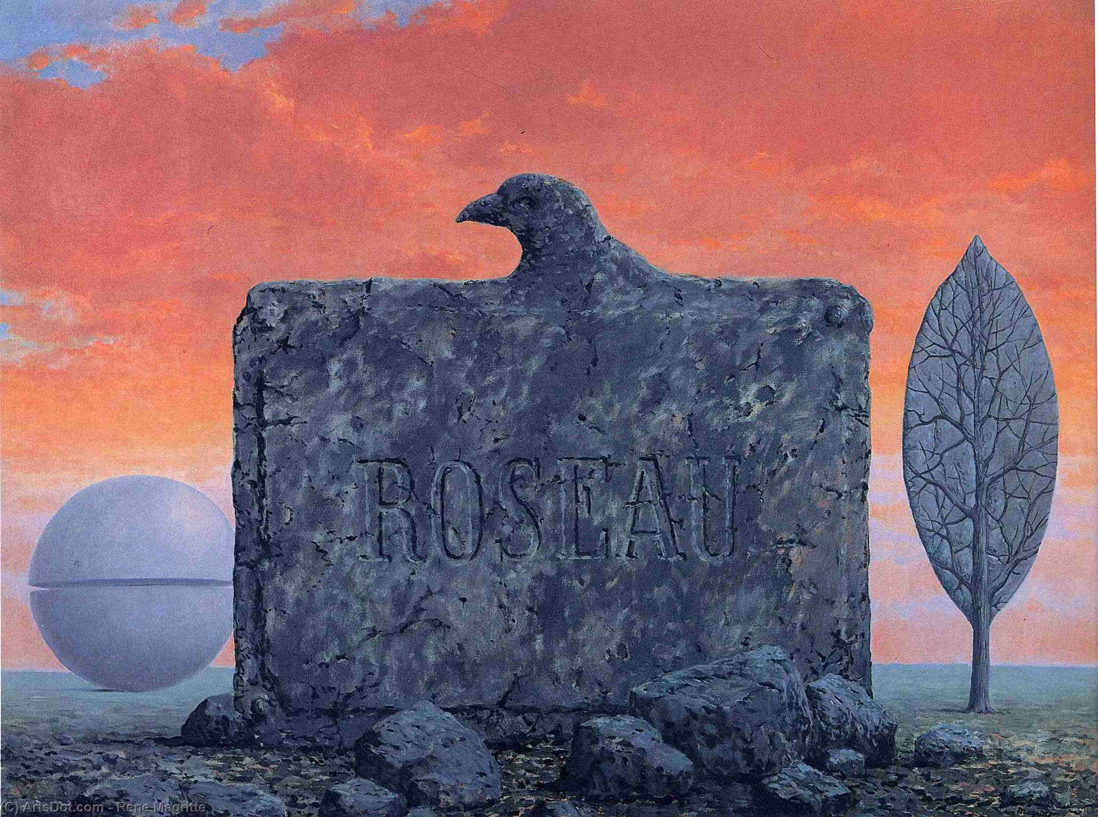 The fountain of youth, 1958 by Rene Magritte (1898-1967, Belgium) | ArtsDot.com