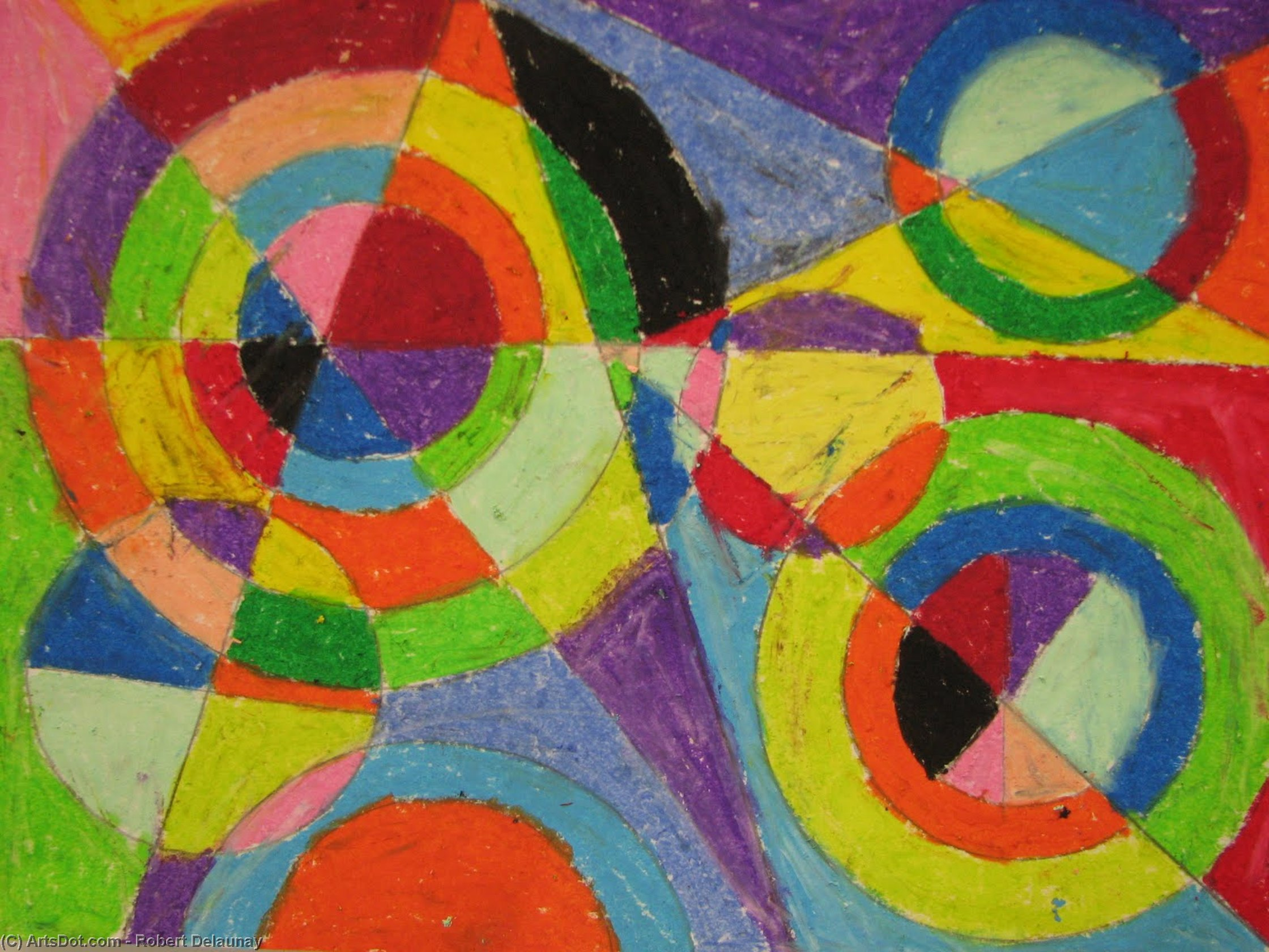 Color Explosion by Robert Delaunay (1885-1941, France)