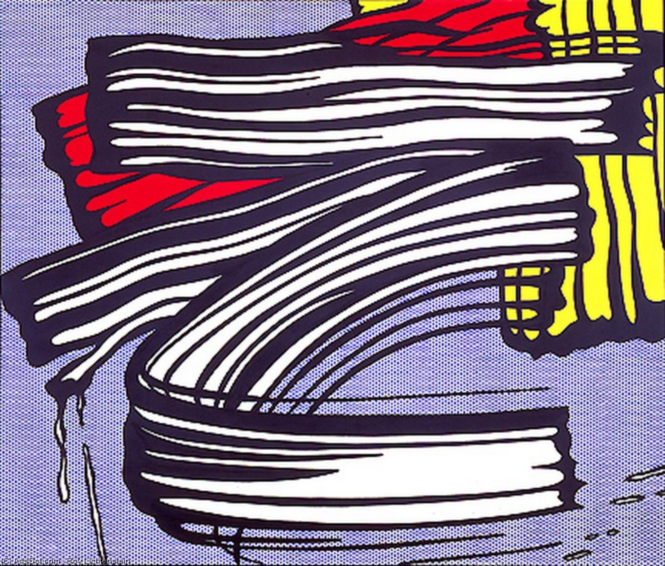 Little big painting, 1965 by Roy Lichtenstein (1923-1997, United States) | Museum Quality Reproductions | ArtsDot.com