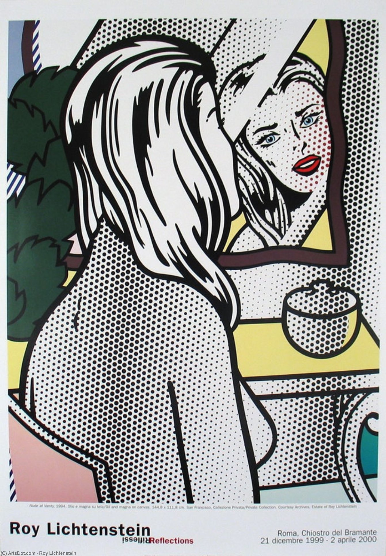 Nude at vanity by Roy Lichtenstein (1923-1997, United States) | Art Reproduction | ArtsDot.com