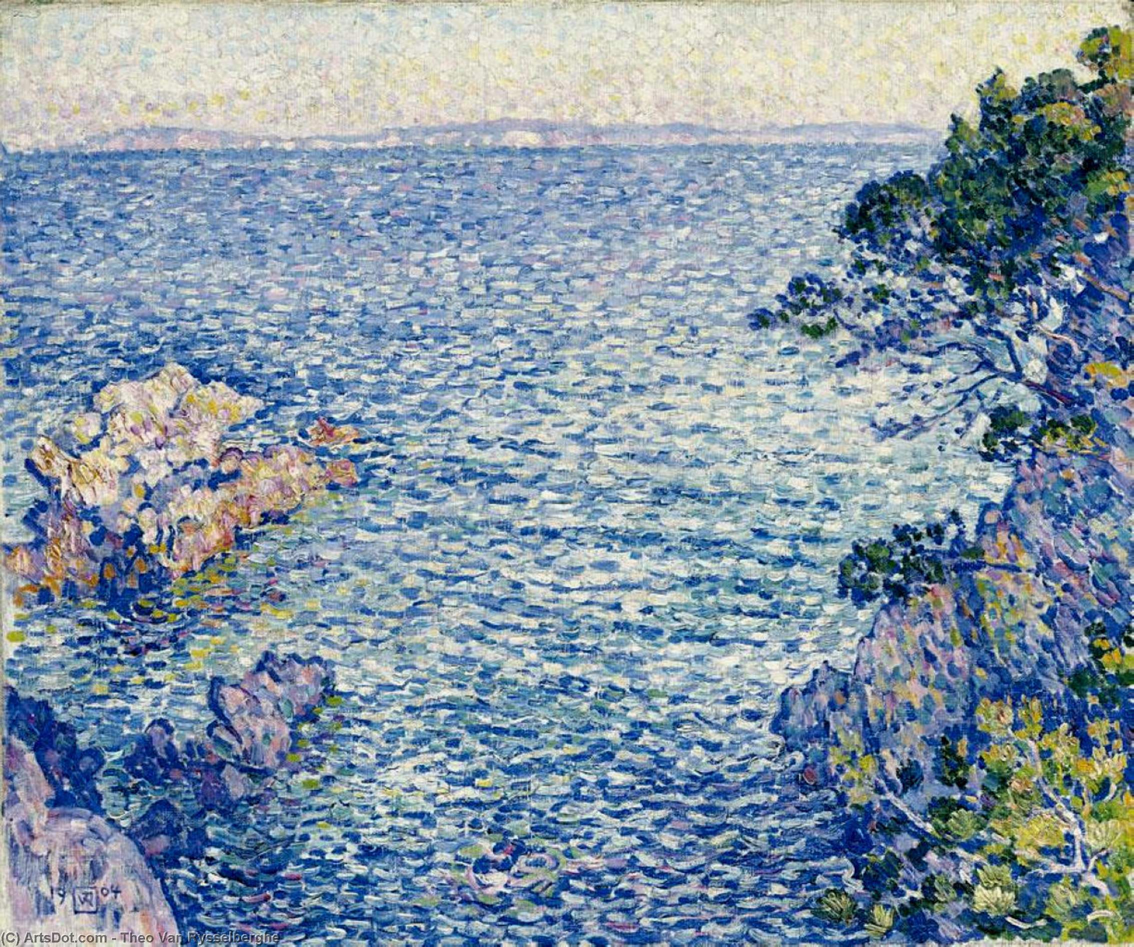 The Point of Rossignol, 1904 by Theo Van Rysselberghe (1862-1926, Belgium) | Museum Art Reproductions | ArtsDot.com