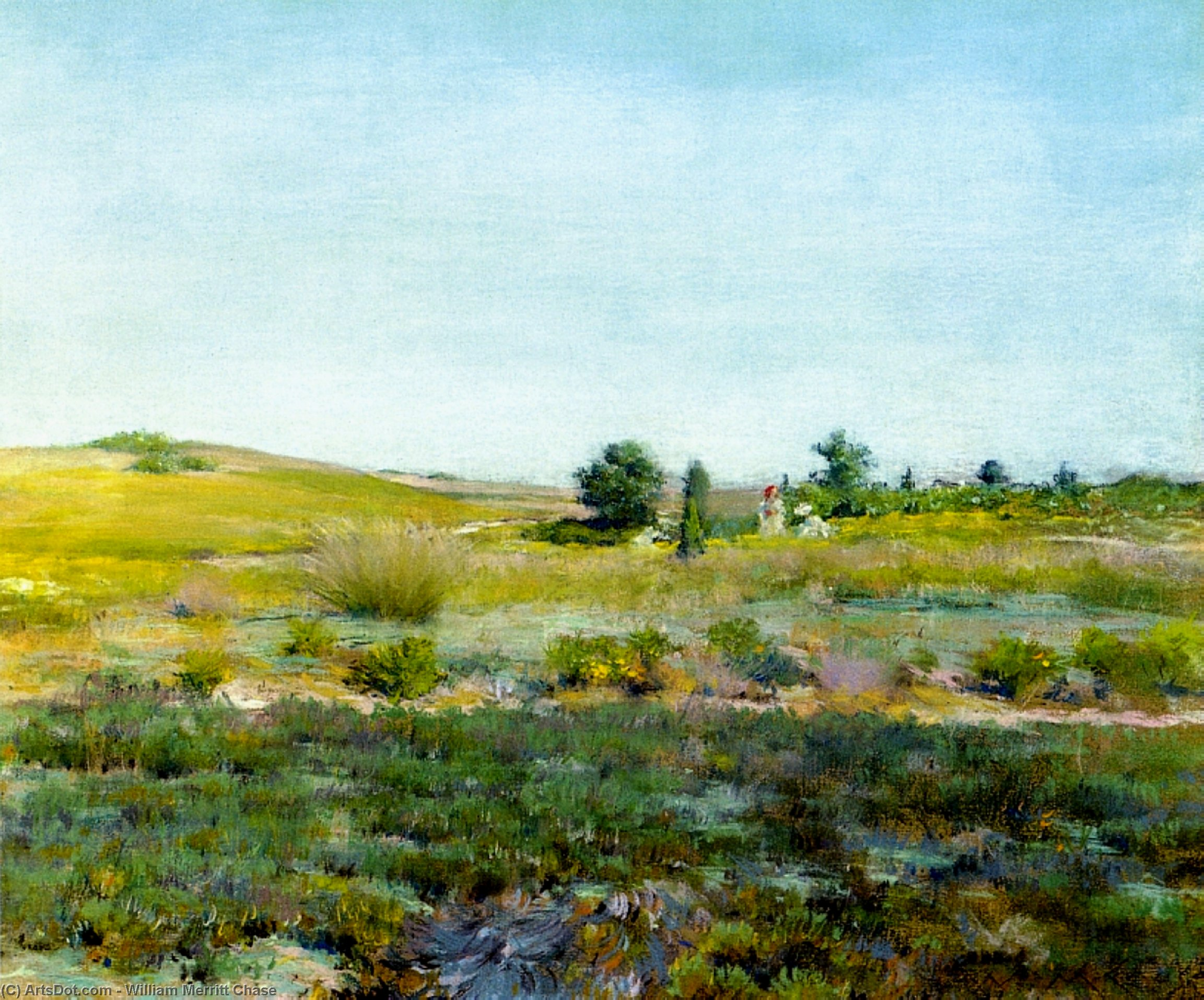 Shinnecock Hills, Summer, Pastel by William Merritt Chase (1849-1916, United States)