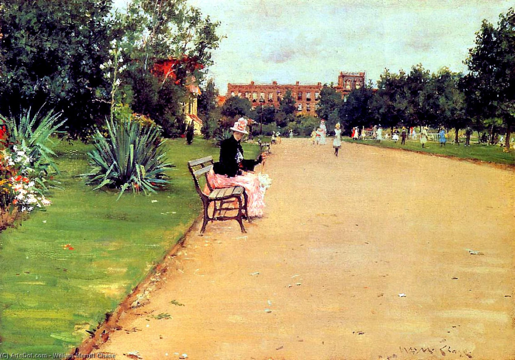 The Park 02, 1887 by William Merritt Chase (1849-1916, United States)