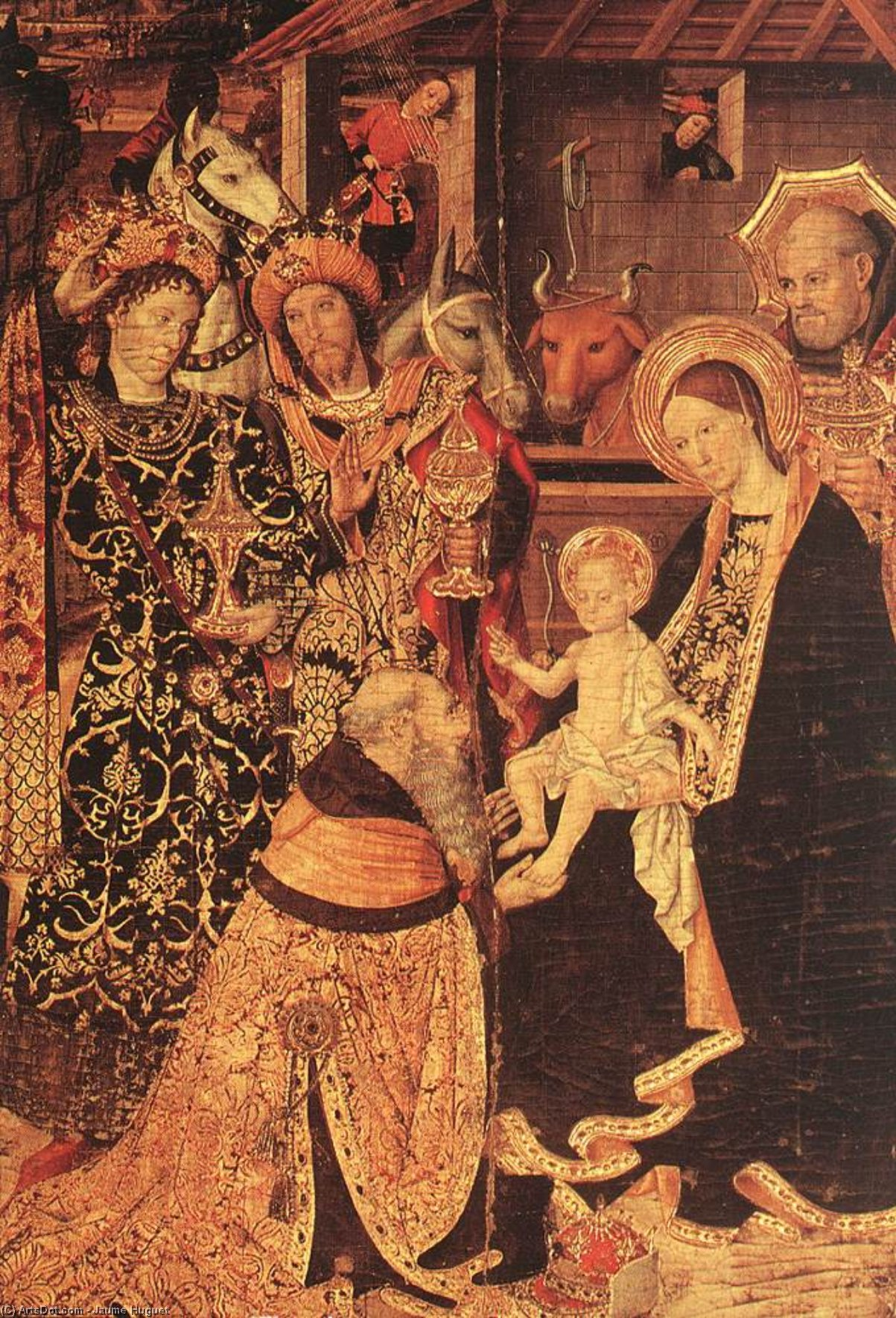 Epiphany (detail), Panel by Jaume Huguet (1412-1492, Spain)