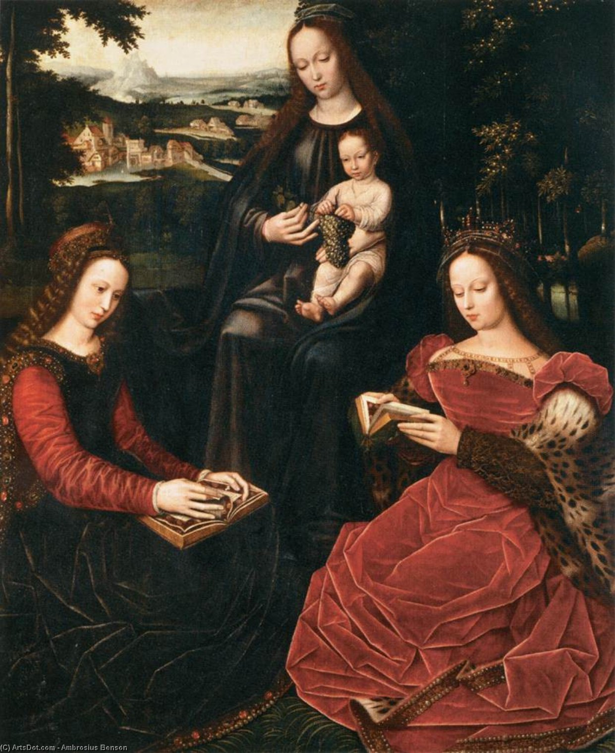 Virgin and Child with Saints, 1530 by Ambrosius Benson (1500-1550, Italy) | Museum Quality Reproductions | ArtsDot.com