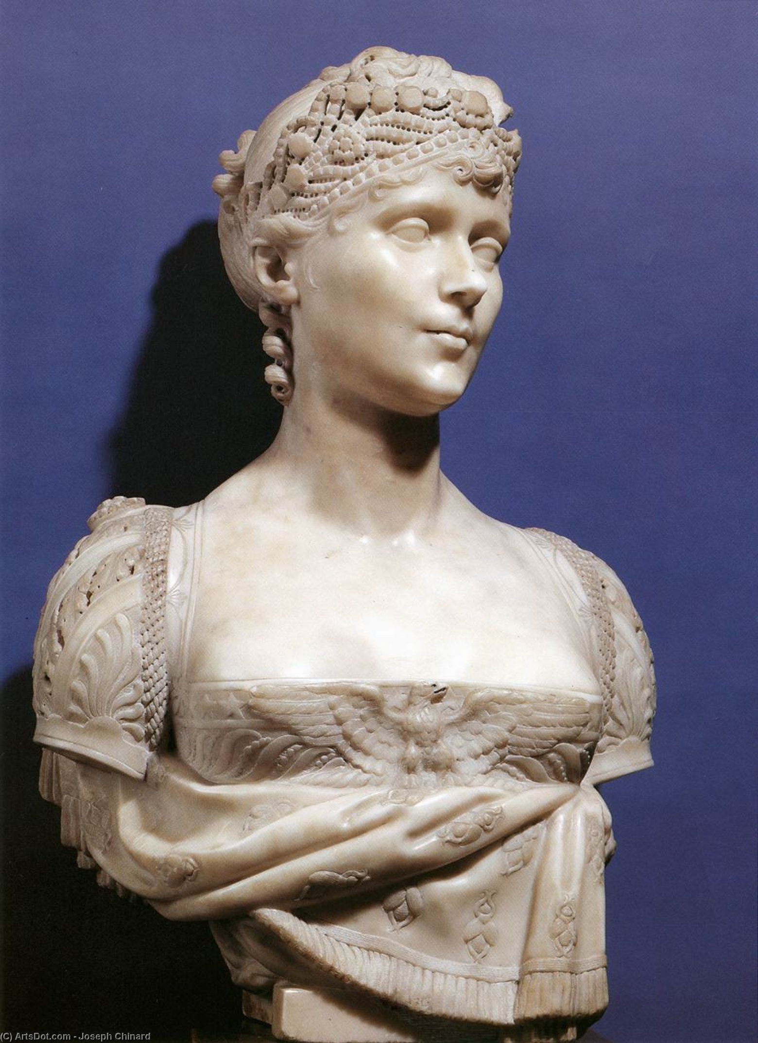 Bust of Empress Josephine, Marble by Joseph Chinard (1756-1813, France)
