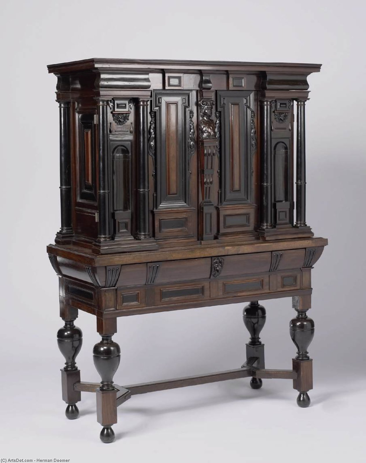 Cabinet table, 1635 by Herman Doomer (1595-1650, Germany) | Paintings Reproductions Herman Doomer | ArtsDot.com