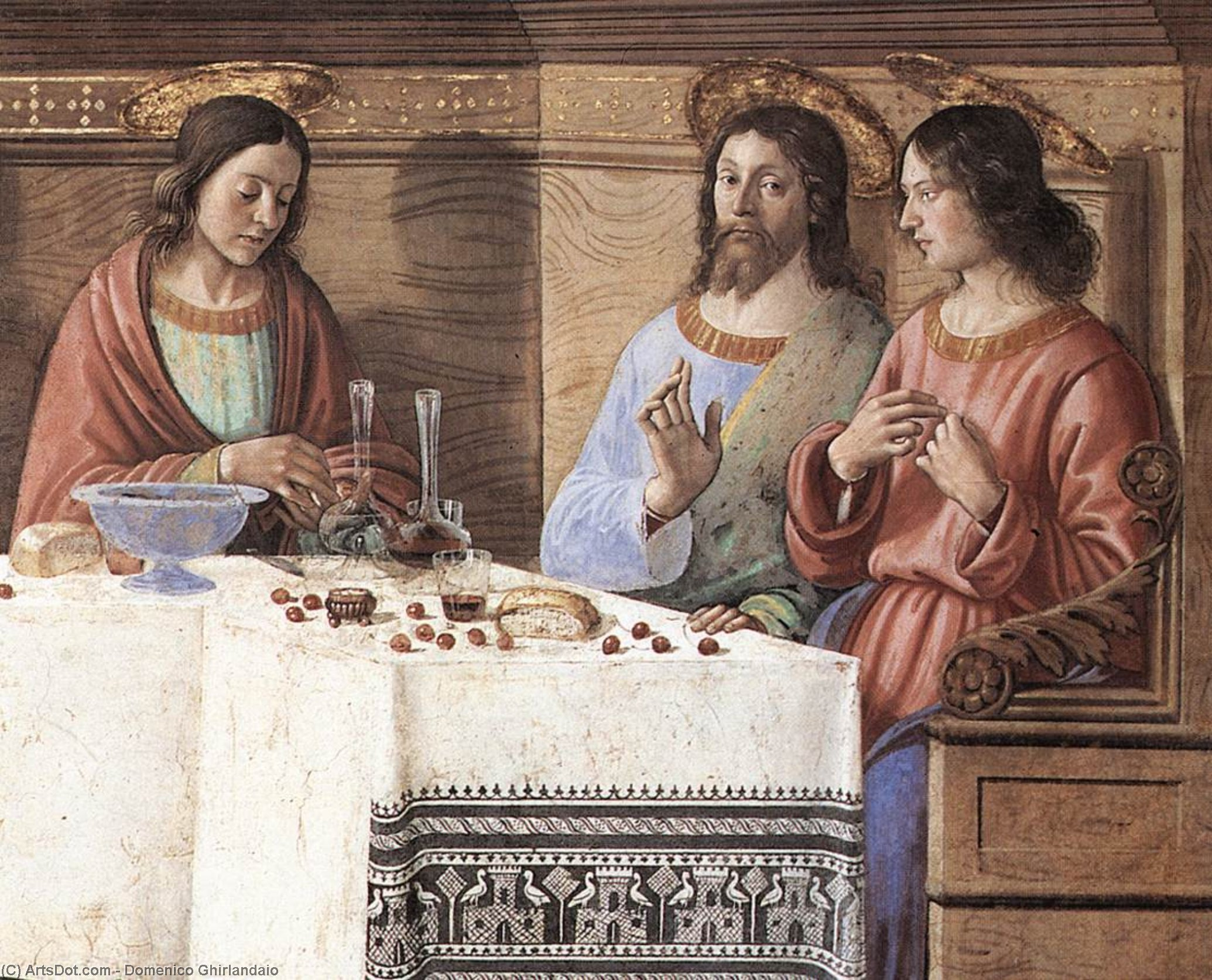 Last Supper (detail) (12), Frescoes by Domenico Ghirlandaio (1449-1494, Italy)