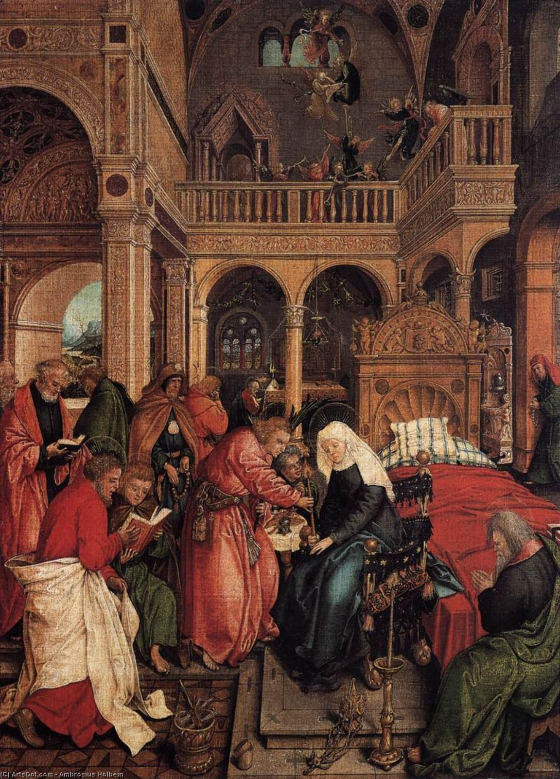 Death of the Virgin, 1518 by Ambrosius Holbein (1494-1519, Germany) | Art Reproductions Ambrosius Holbein | ArtsDot.com
