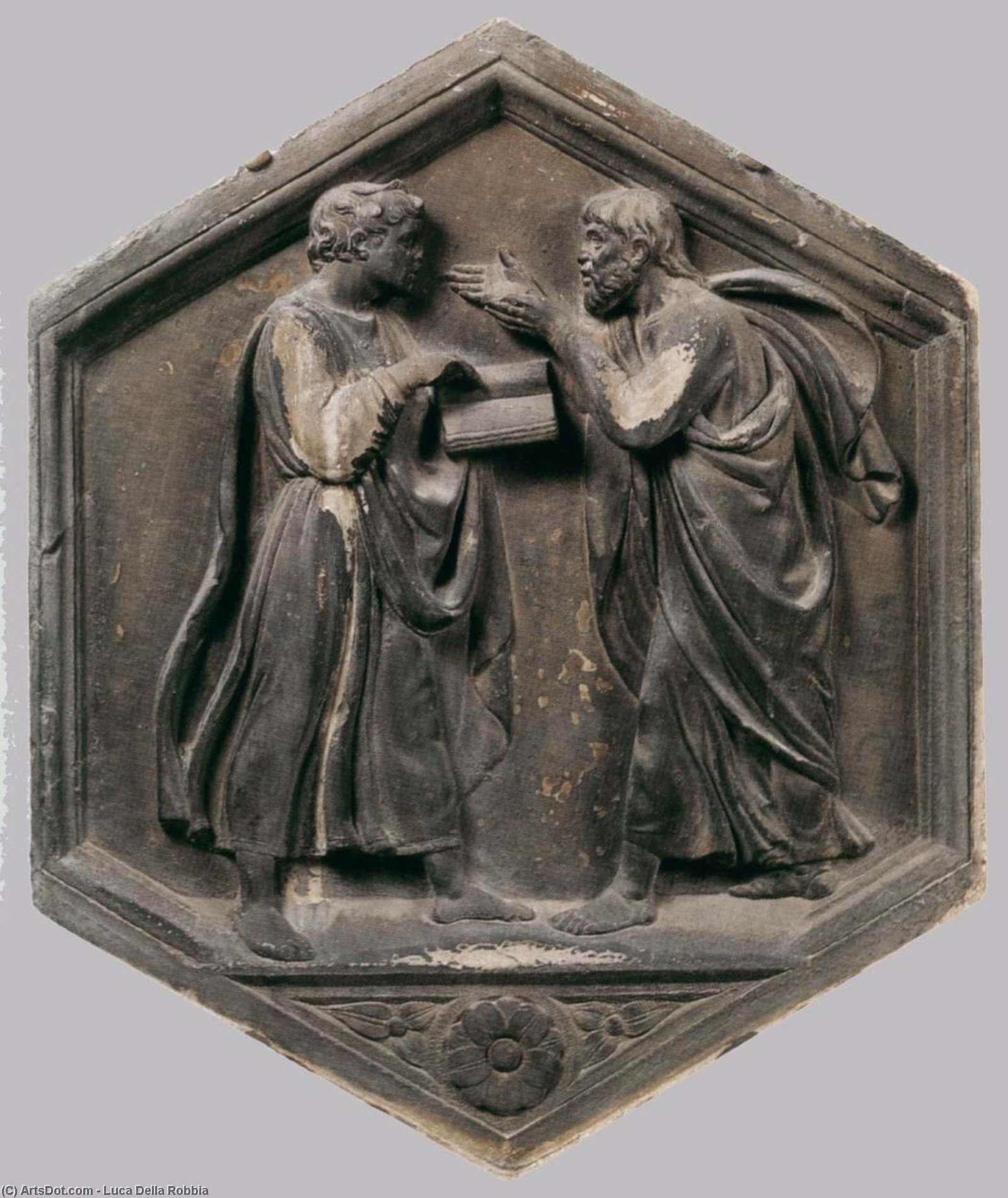Logic (or Philosophy), Stone by Luca Della Robbia (1399-1483, Italy)