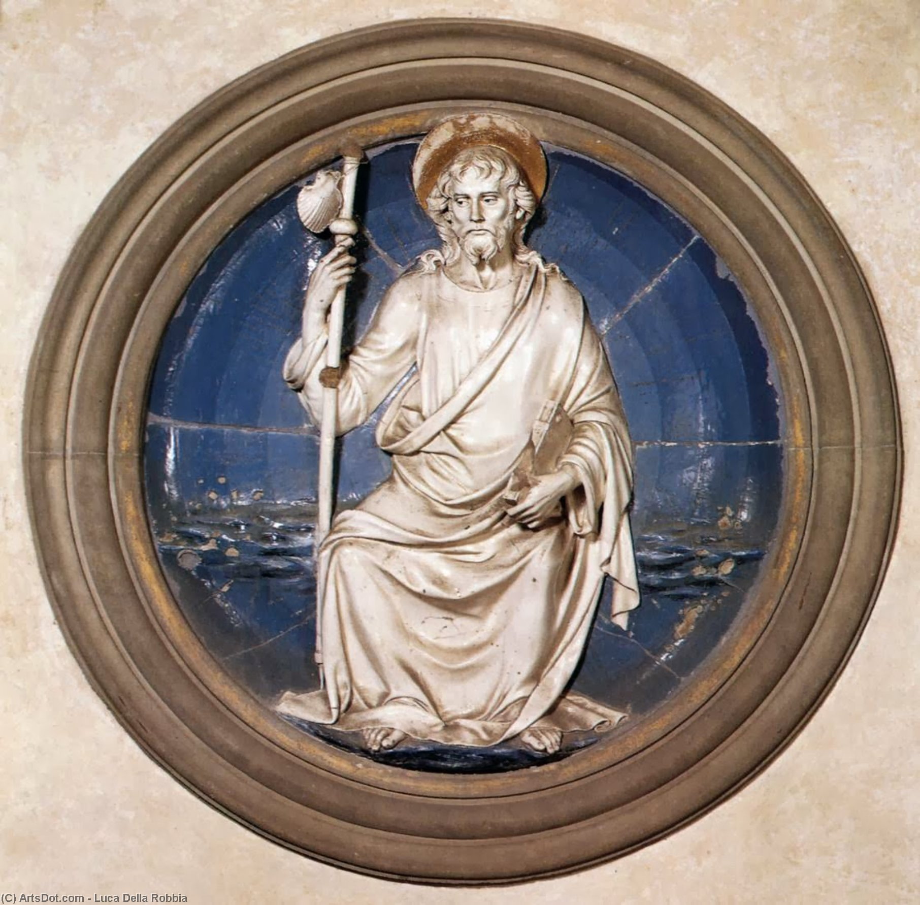 St James the Great, Terracotta by Luca Della Robbia (1399-1483, Italy)