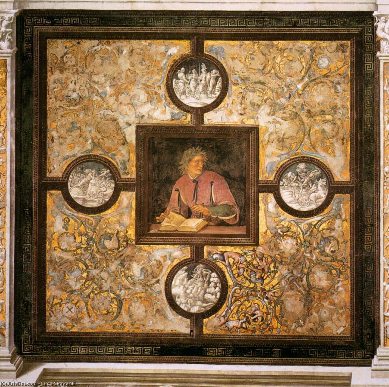 Claudian, Frescoes by Luca Signorelli (1450-1523, Italy)