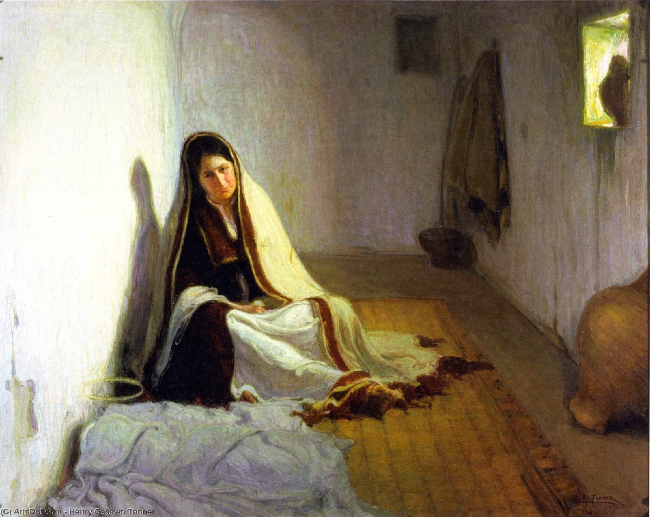 Mary (also known as La Sainte-Marie), Oil On Canvas by Henry Ossawa Tanner (1859-1937, United States)