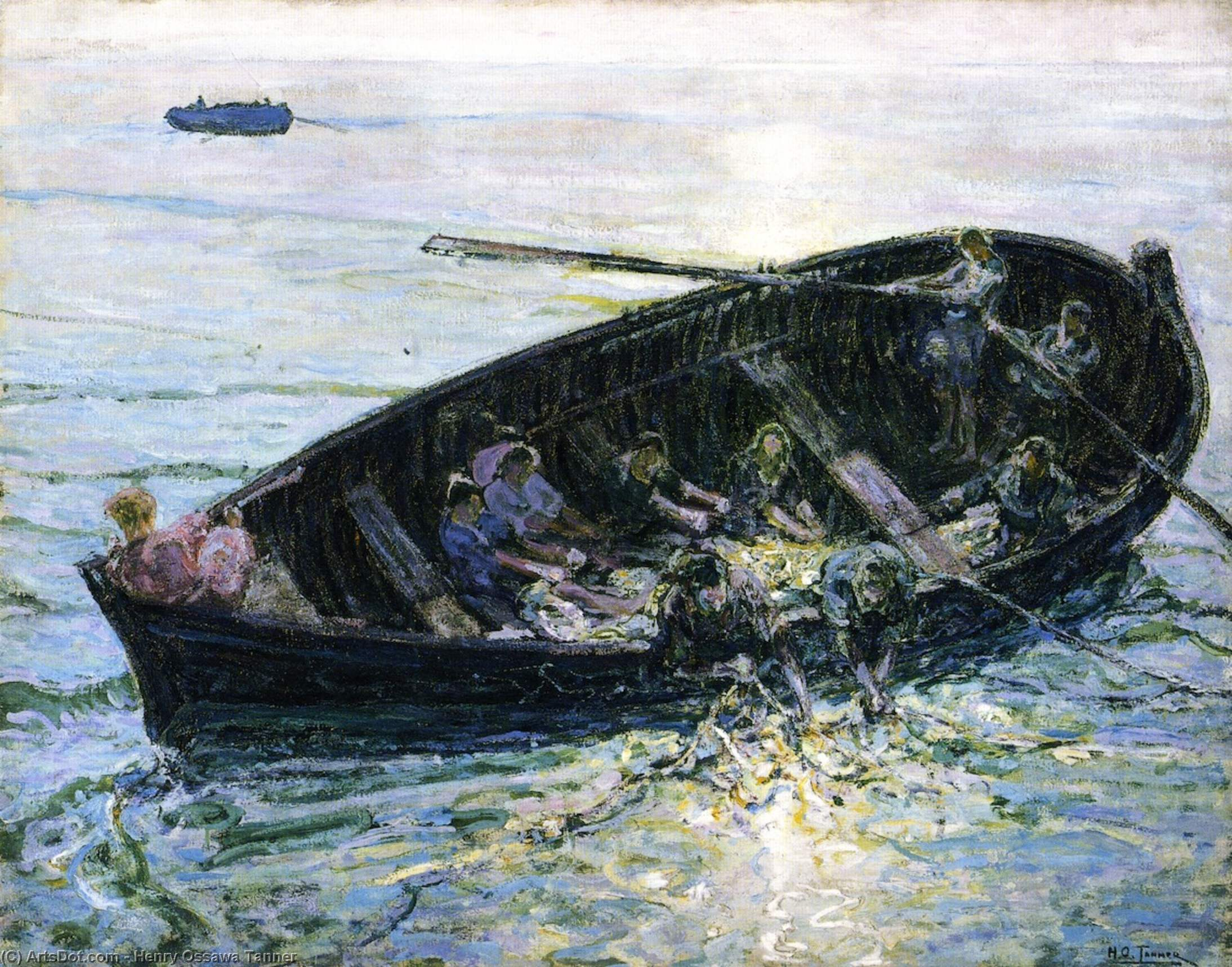 Miraculous Haul of Fishes, 1913 by Henry Ossawa Tanner (1859-1937, United States) | Oil Painting | ArtsDot.com