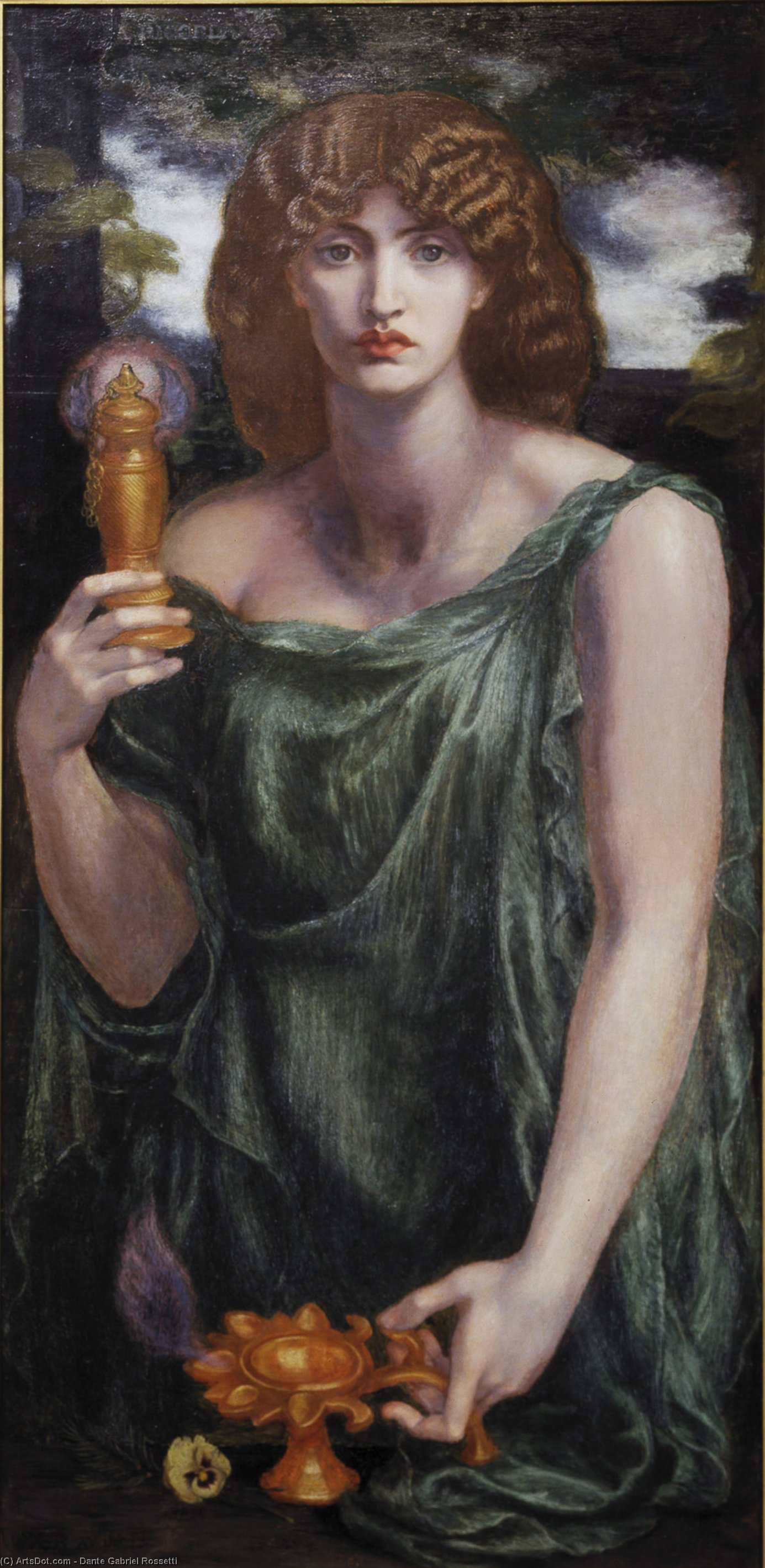 Mnemosyne, 1881 by Dante Gabriel Rossetti (1828-1882, United Kingdom)