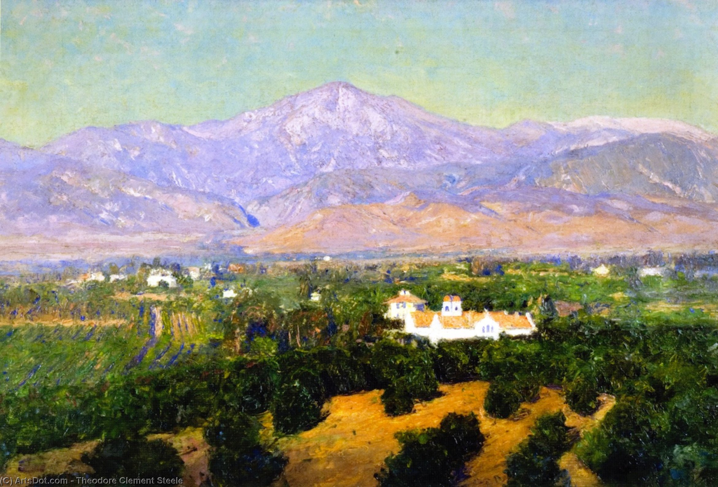 Mount San Bernardino, from Smiley`s Heights, Redlands, 1902 by Theodore Clement Steele (1847-1926, United States) | Museum Quality Reproductions | ArtsDot.com