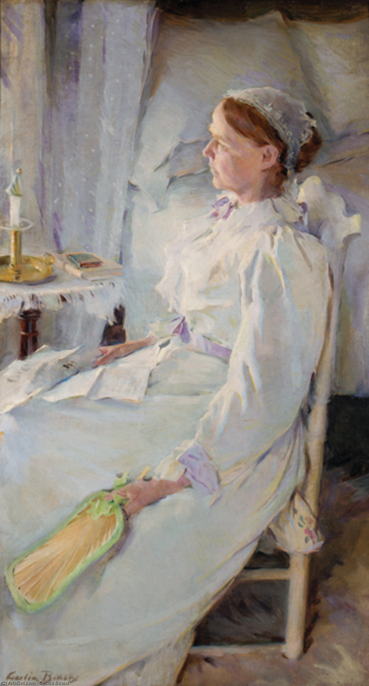 New England Woman, Oil On Canvas by Cecilia Beaux (1855-1942, United States)