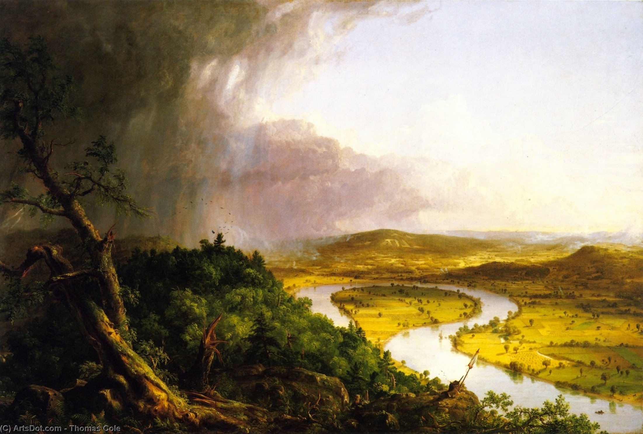 The Oxbow (also known as The Connecticut River near Northampton), Oil On Canvas by Thomas Cole (1801-1848, United Kingdom)