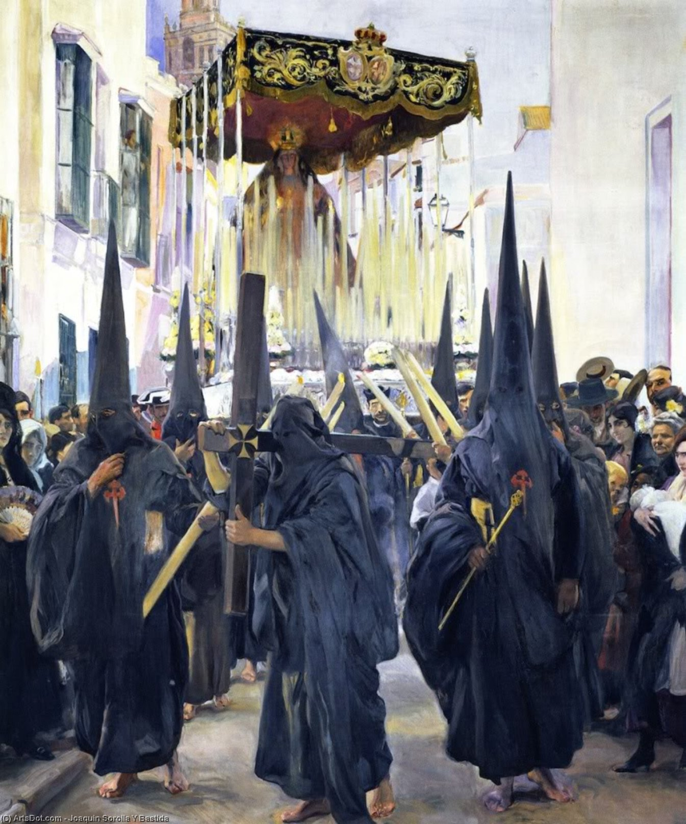Penitents, Holy Week, Seville, Oil On Canvas by Joaquin Sorolla Y Bastida (1863-1923, Spain)