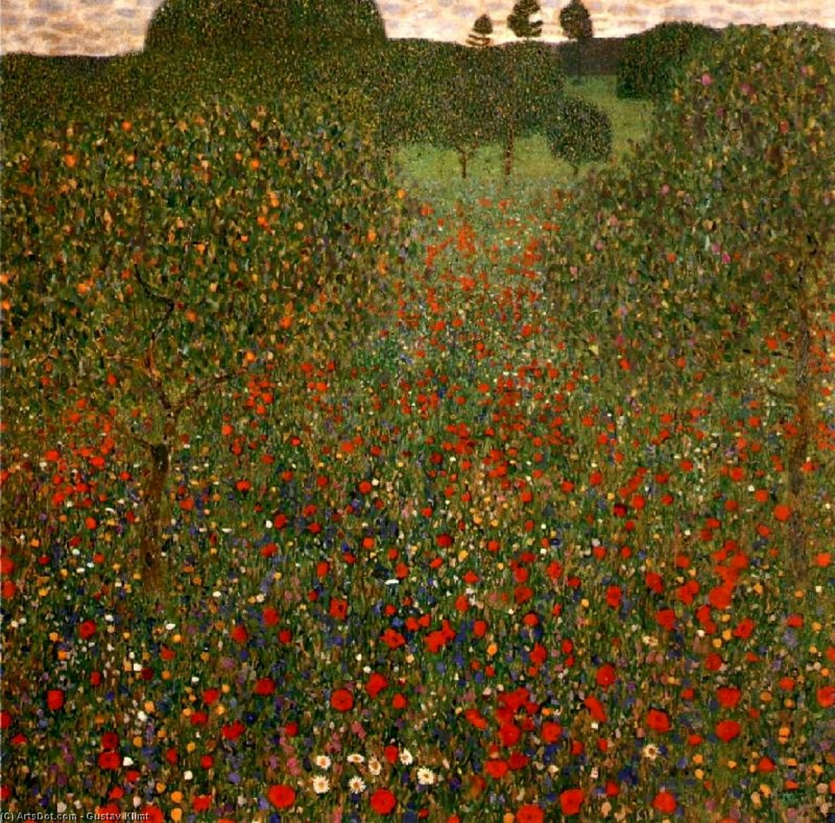 Order Art Reproductions | Poppy Field, 1907 by Gustav Klimt (1862-1918, Austria) | ArtsDot.com