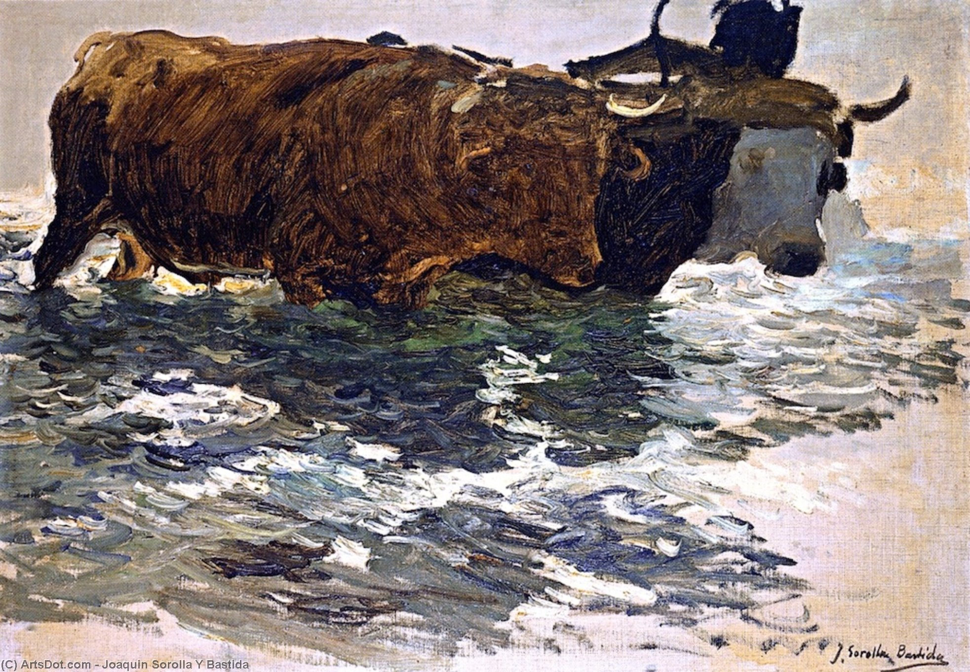 The Return from Fishing (study), Oil On Canvas by Joaquin Sorolla Y Bastida (1863-1923, Spain)