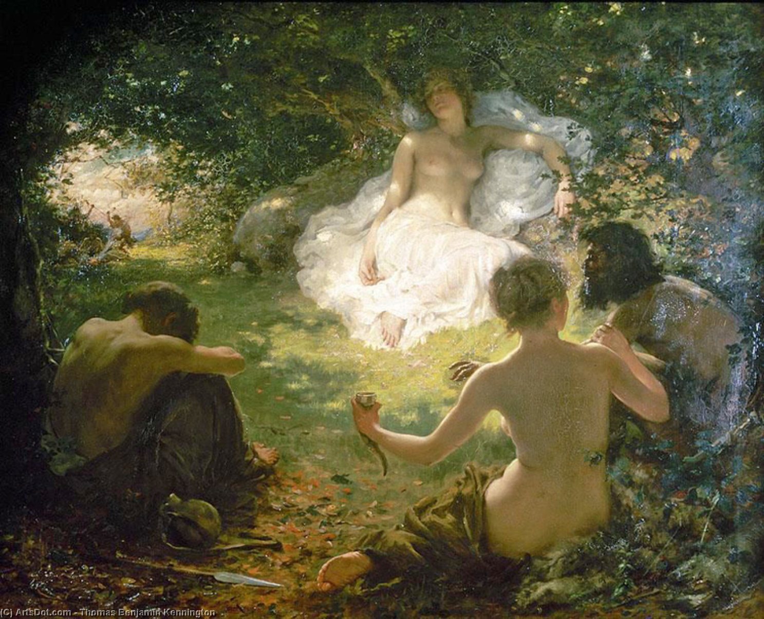 Serena, Found of Savages by Thomas Benjamin Kennington (1856-1916, United Kingdom)