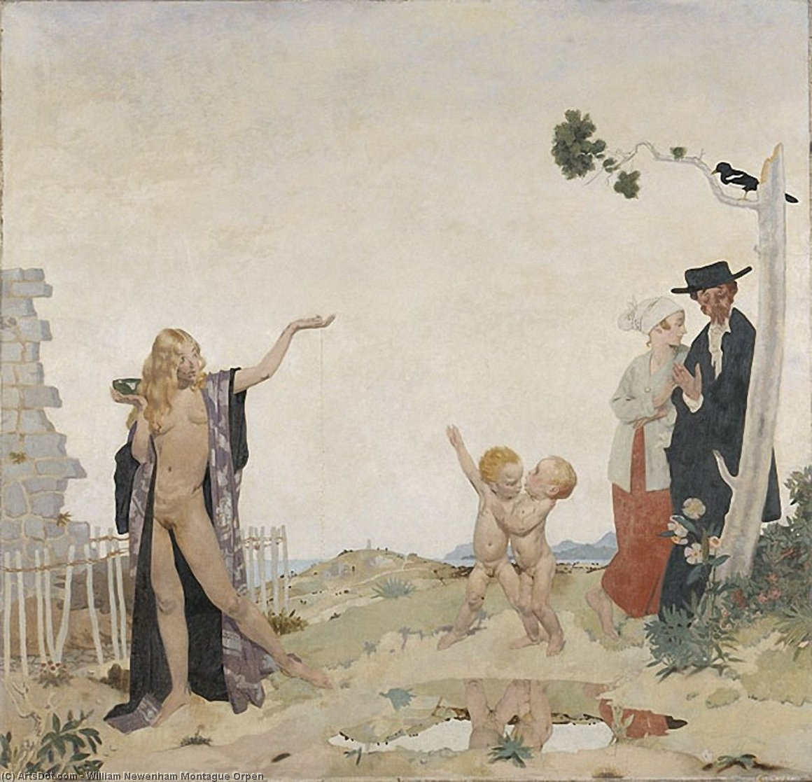 Sowing new seed, 1913 by William Newenham Montague Orpen (1878-1931, Ireland) | Art Reproduction | ArtsDot.com
