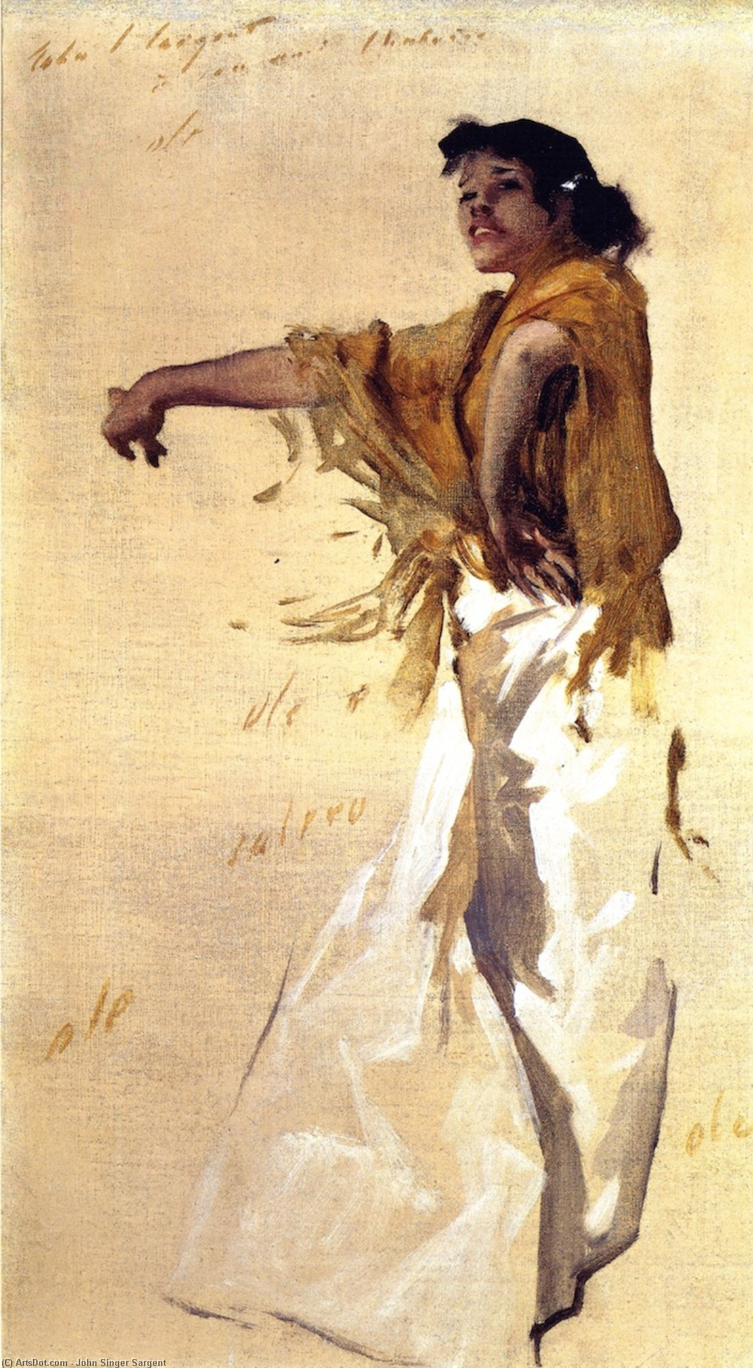 Spanish Gypsy Dancer, 1879 by John Singer Sargent (1856-1925, Italy) | Paintings Reproductions John Singer Sargent | ArtsDot.com